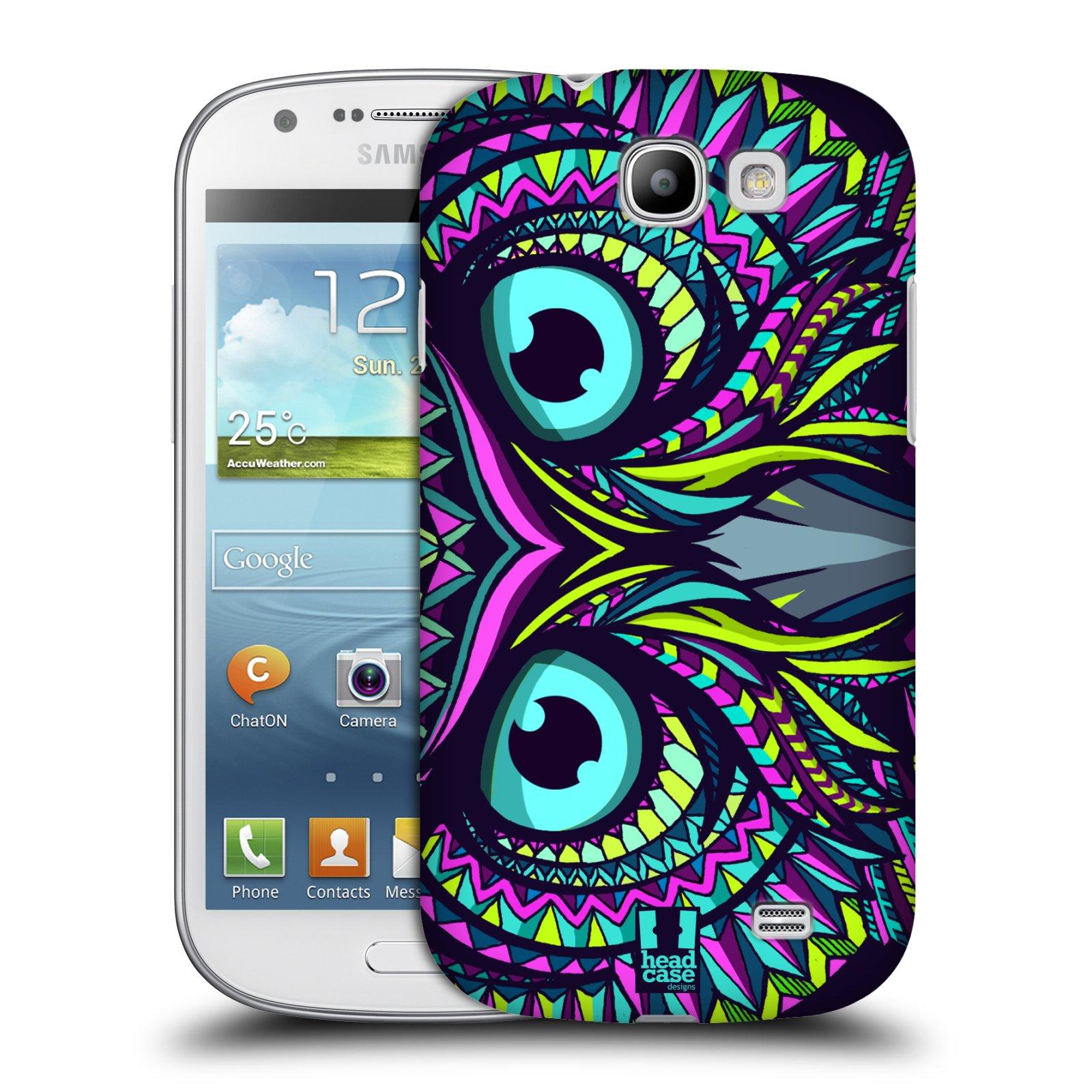 Plastové pouzdro na mobil Samsung Galaxy Express HEAD CASE AZTEC SOVA (Kryt či obal na mobilní telefon Samsung Galaxy Express GT-i8730)
