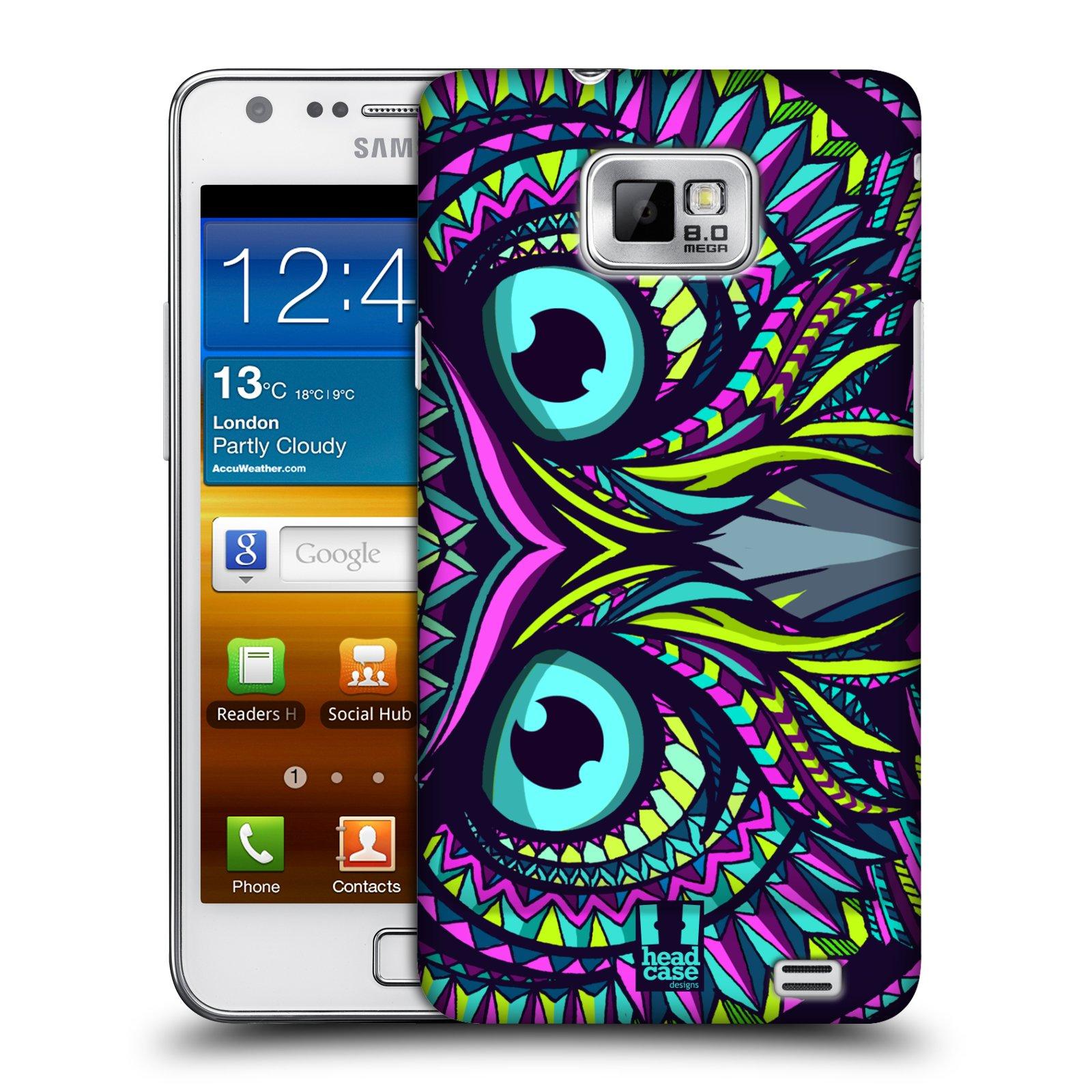 Plastové pouzdro na mobil Samsung Galaxy S II HEAD CASE AZTEC SOVA (Kryt či obal na mobilní telefon Samsung Galaxy S II GT-i9100)