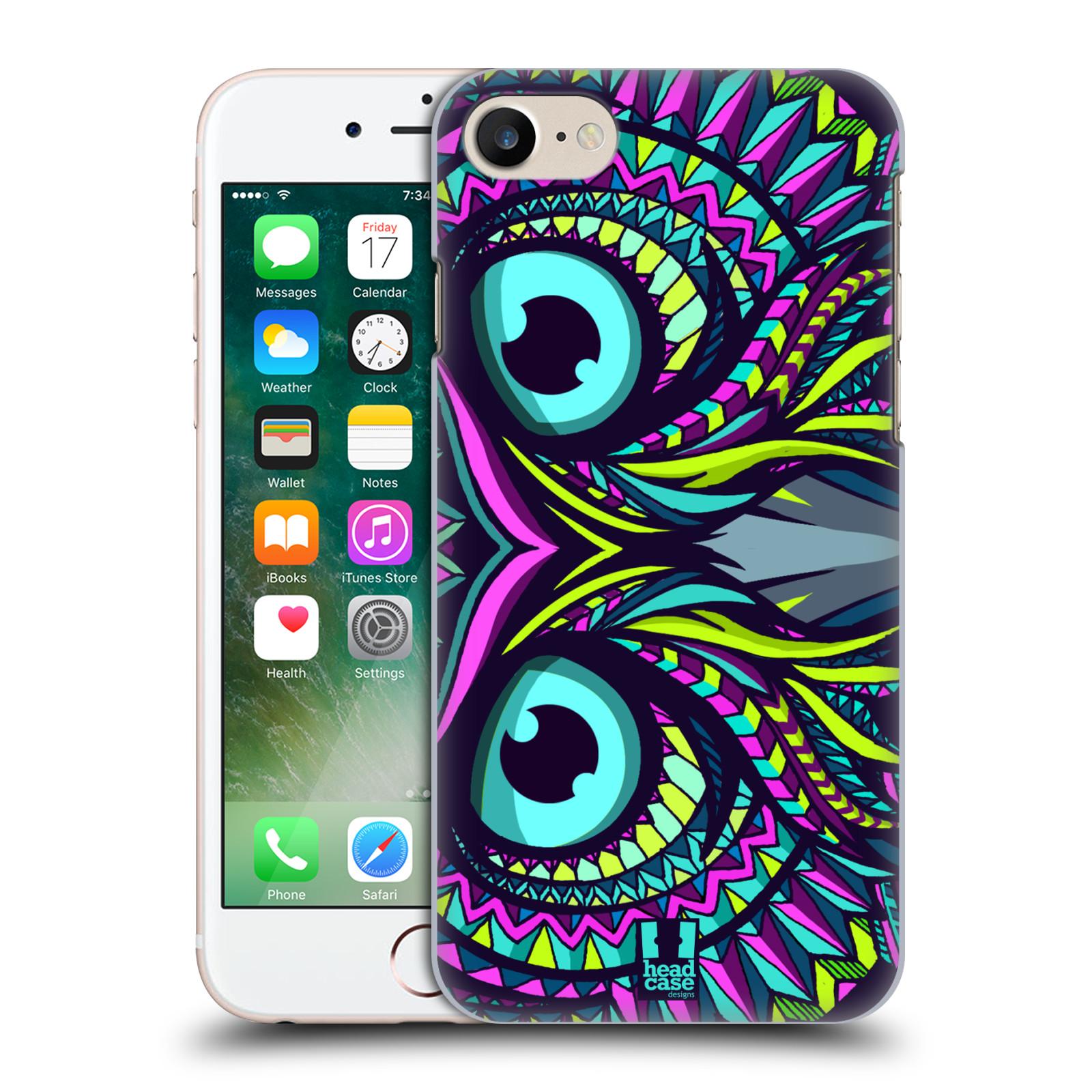 Plastové pouzdro na mobil Apple iPhone 7 HEAD CASE AZTEC SOVA