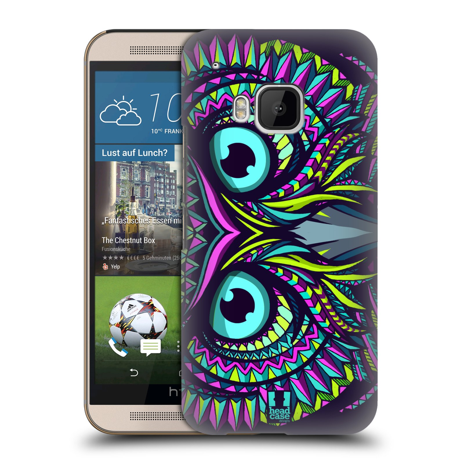 Plastové pouzdro na mobil HTC ONE M9 HEAD CASE AZTEC SOVA