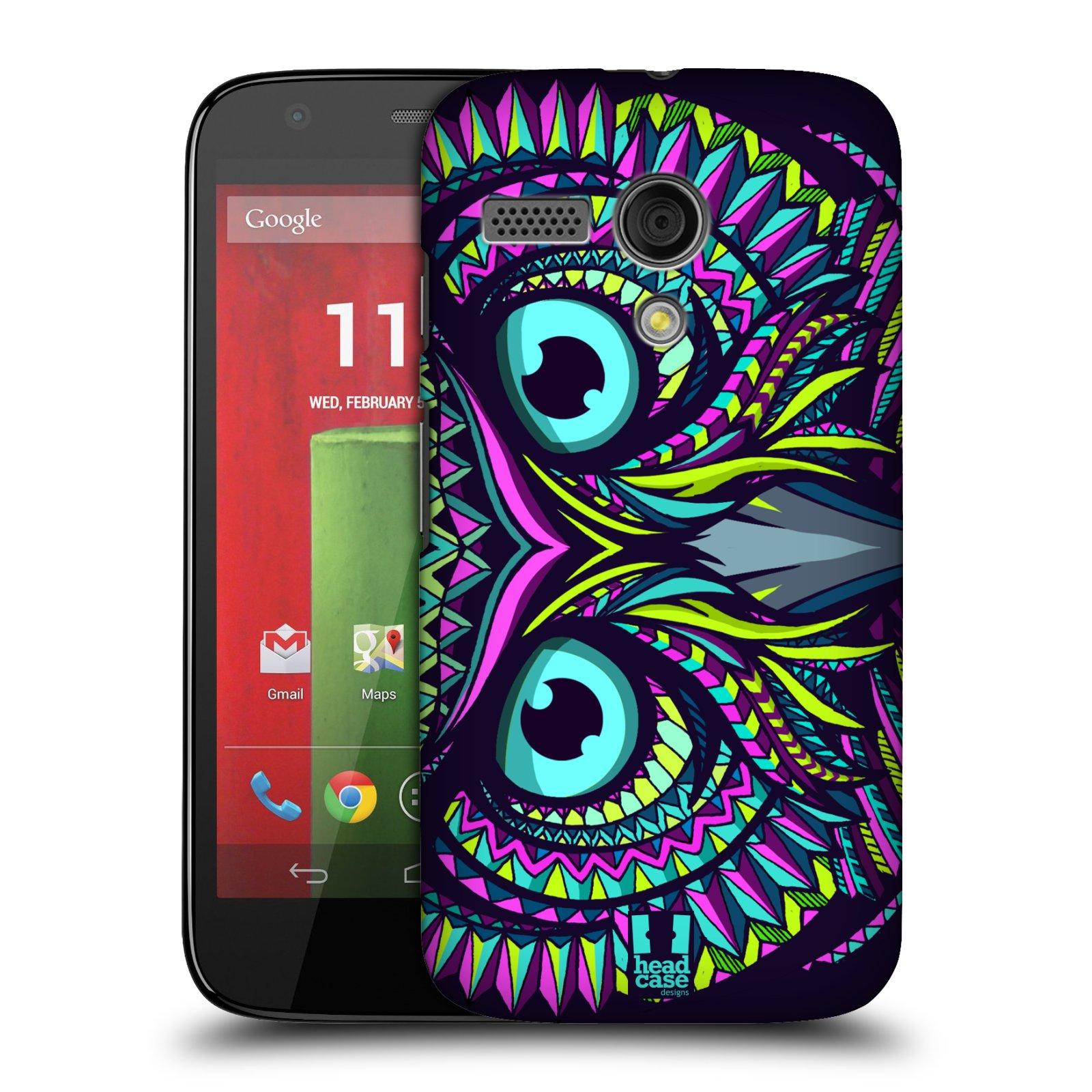 Plastové pouzdro na mobil Motorola Moto G HEAD CASE AZTEC SOVA (Kryt či obal na mobilní telefon Motorola Moto G)