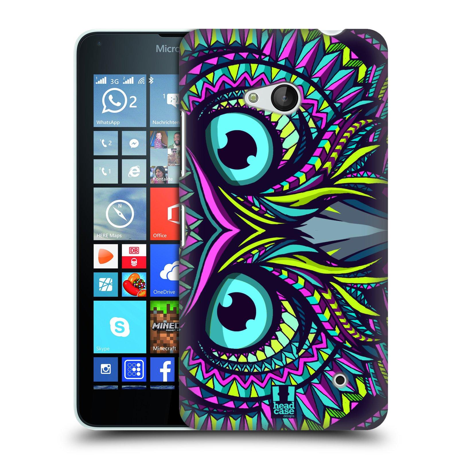 Plastové pouzdro na mobil Microsoft Lumia 640 HEAD CASE AZTEC SOVA