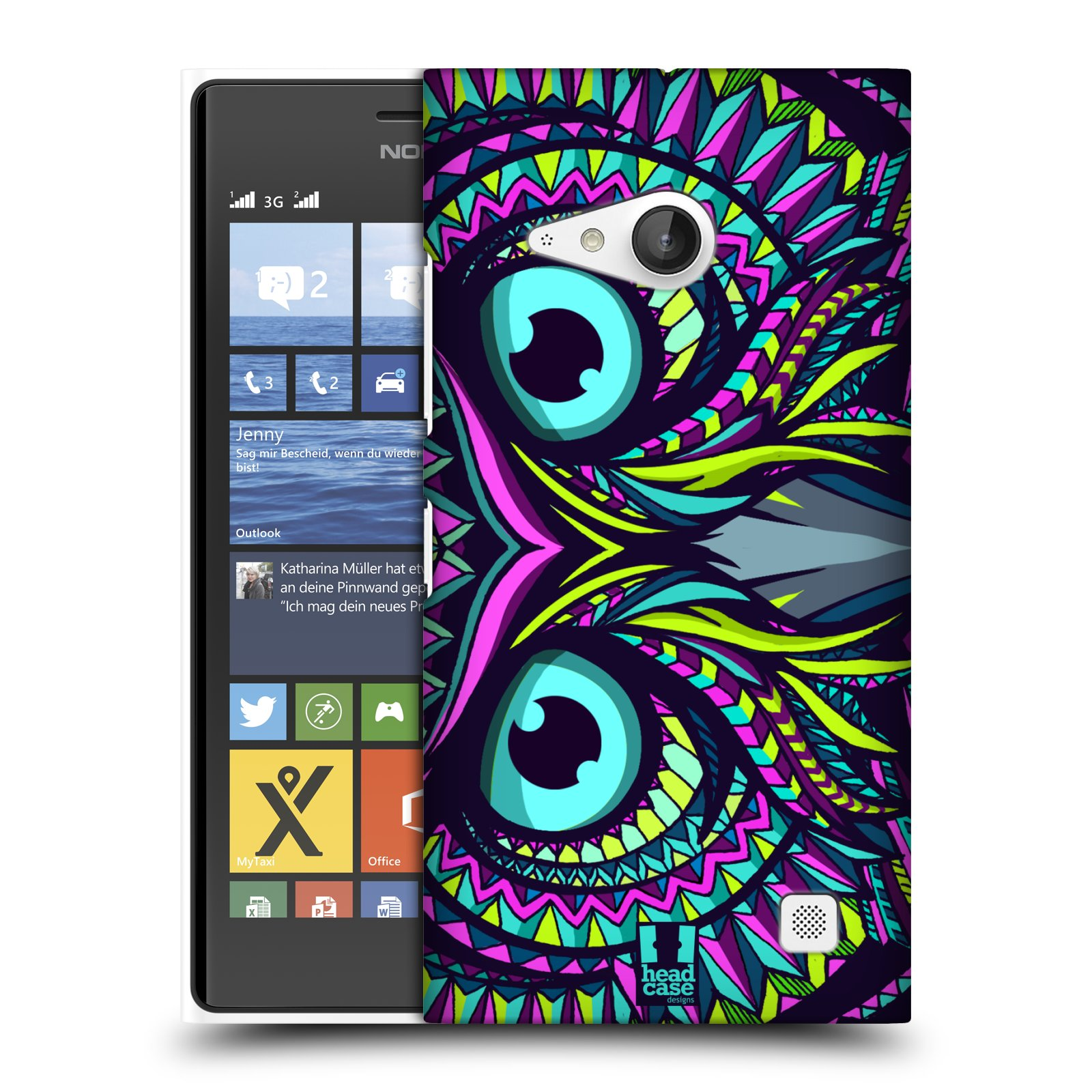 Plastové pouzdro na mobil Nokia Lumia 735 HEAD CASE AZTEC SOVA