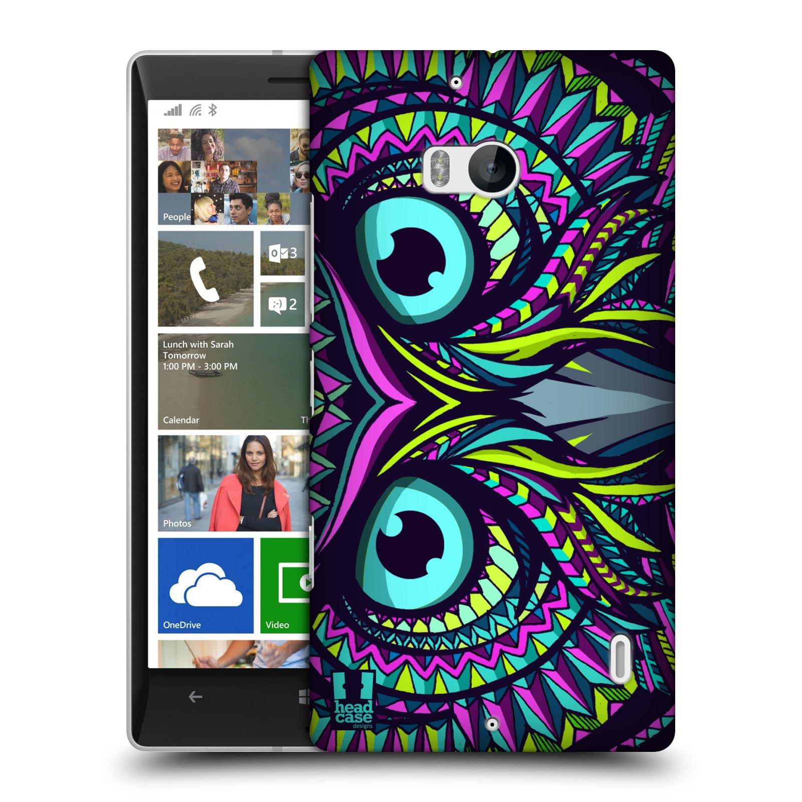 Plastové pouzdro na mobil Nokia Lumia 930 HEAD CASE AZTEC SOVA (Kryt či obal na mobilní telefon Nokia Lumia 930)