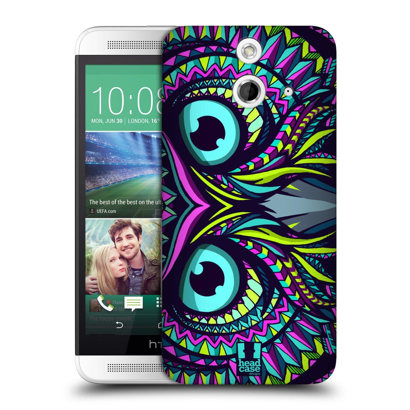 Plastové pouzdro na mobil HTC ONE E8 HEAD CASE AZTEC SOVA (Kryt či obal na mobilní telefon HTC ONE E8)