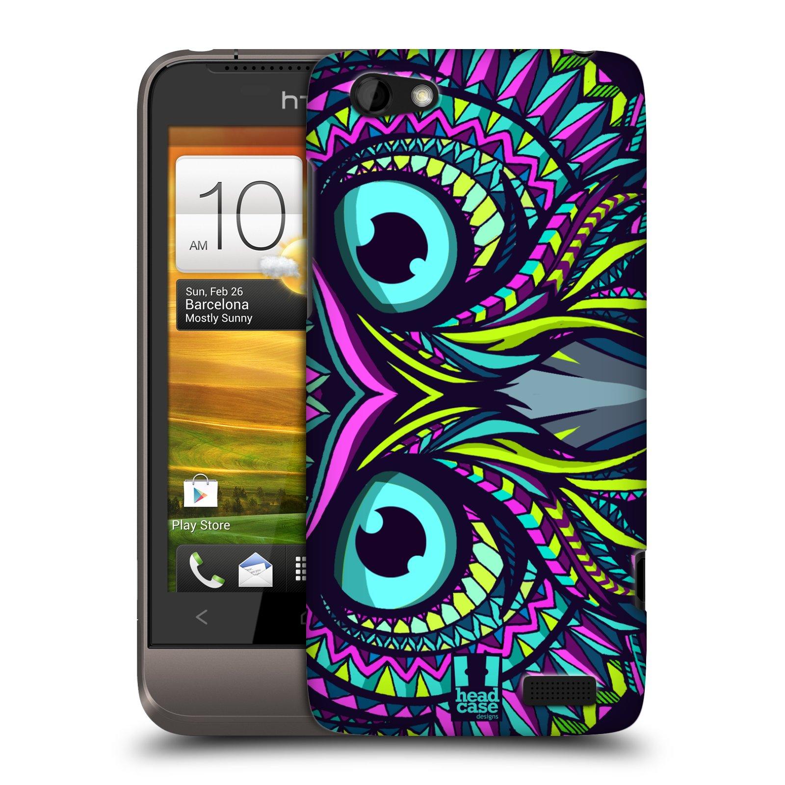 Plastové pouzdro na mobil HTC ONE V HEAD CASE AZTEC SOVA (Kryt či obal na mobilní telefon HTC ONE V)