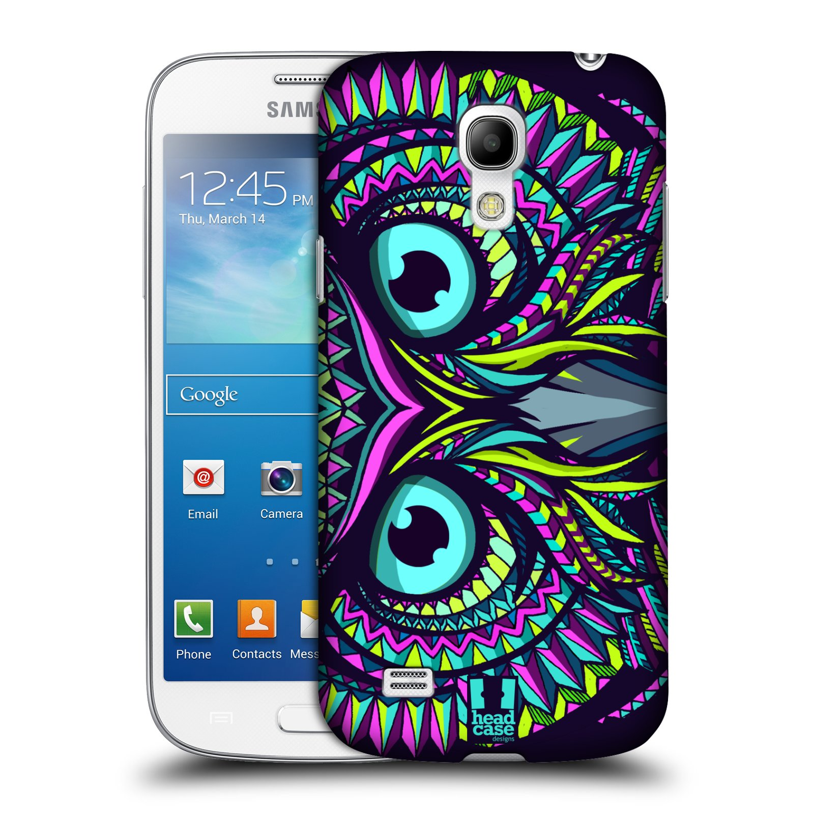 Plastové pouzdro na mobil Samsung Galaxy S4 Mini VE HEAD CASE AZTEC SOVA (Kryt či obal na mobilní telefon Samsung Galaxy S4 Mini VE GT-i9195i (nepasuje na verzi Black Edition))