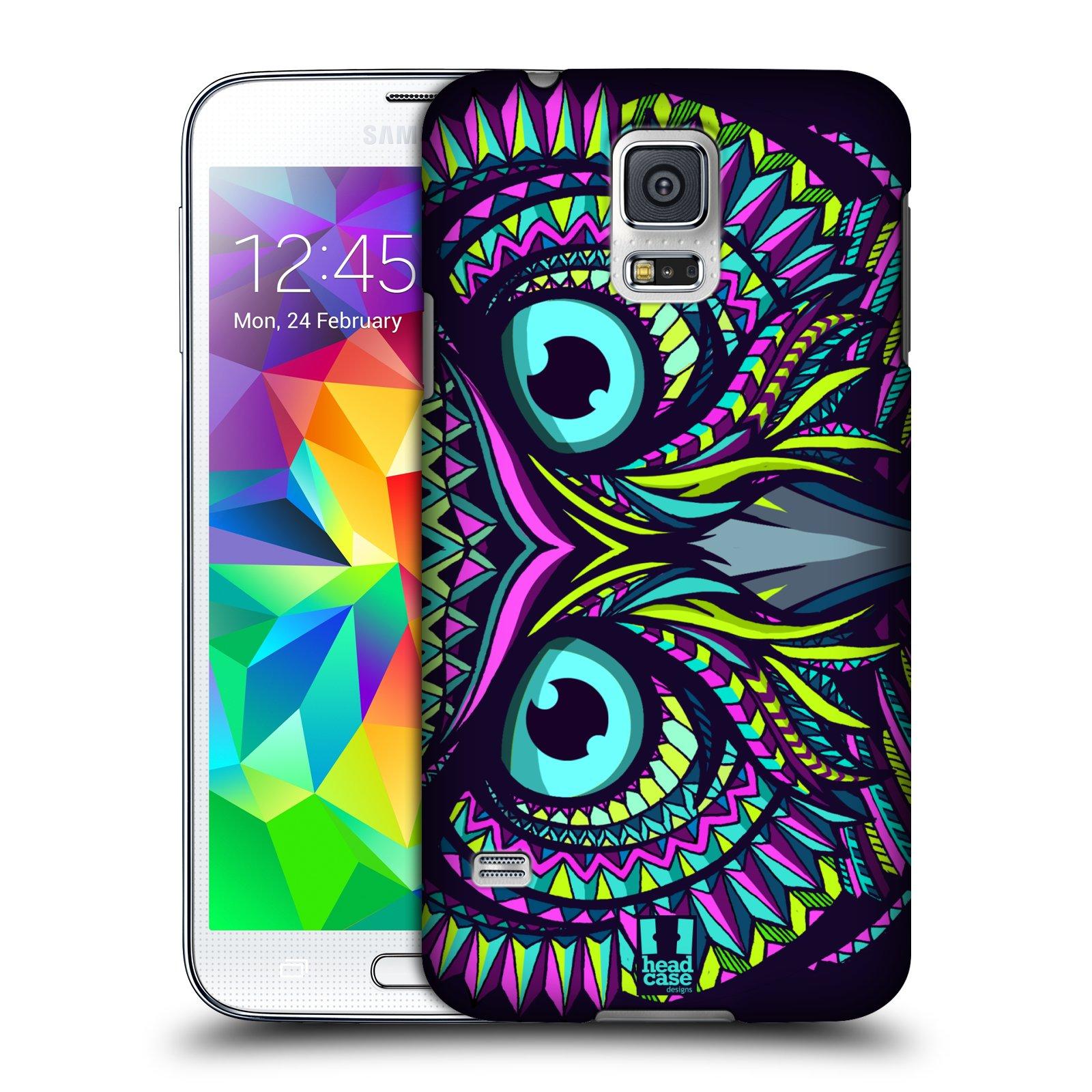 Plastové pouzdro na mobil Samsung Galaxy S5 HEAD CASE AZTEC SOVA