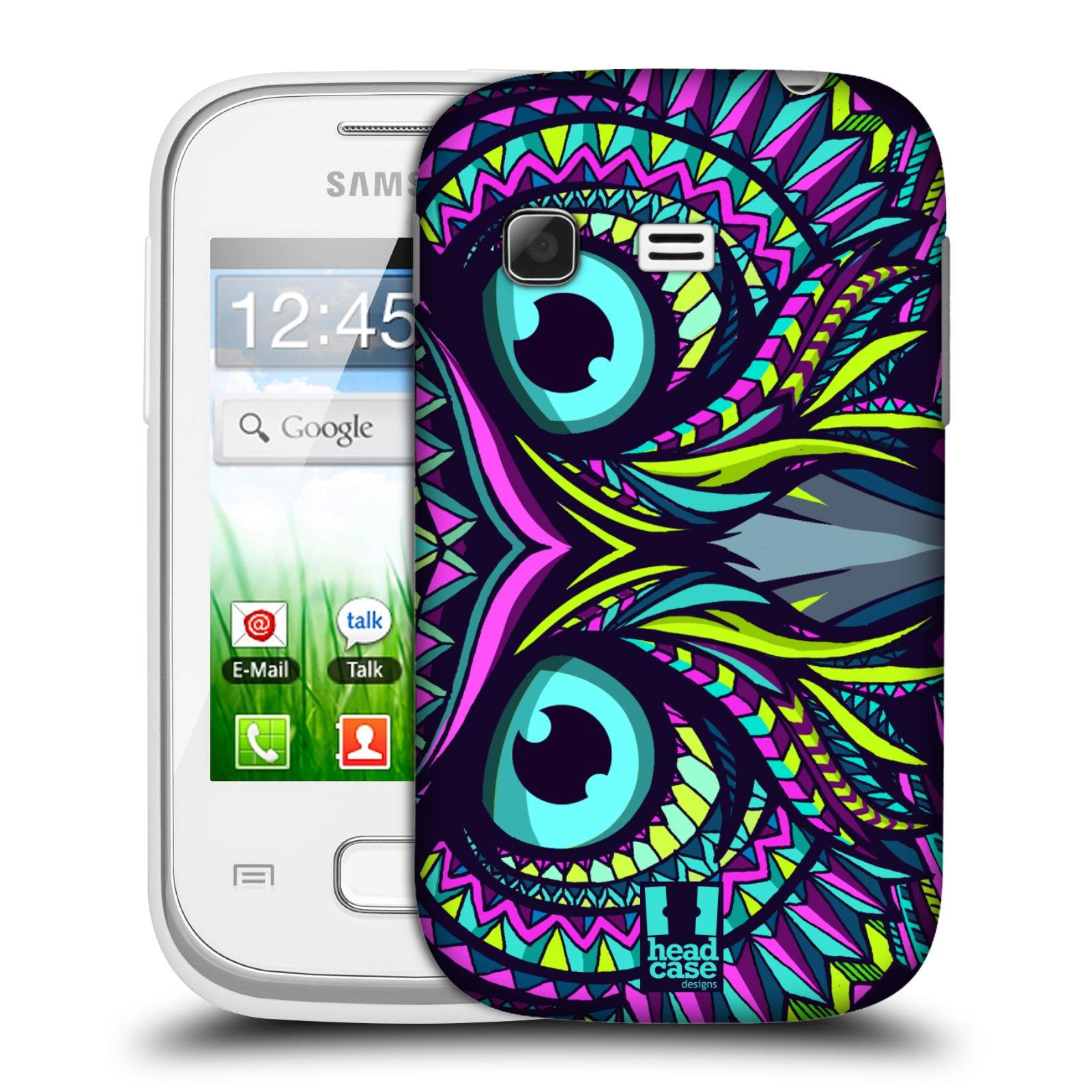 Plastové pouzdro na mobil Samsung Galaxy Pocket HEAD CASE AZTEC SOVA (Kryt či obal na mobilní telefon Samsung Galaxy Pocket GT-S5300)
