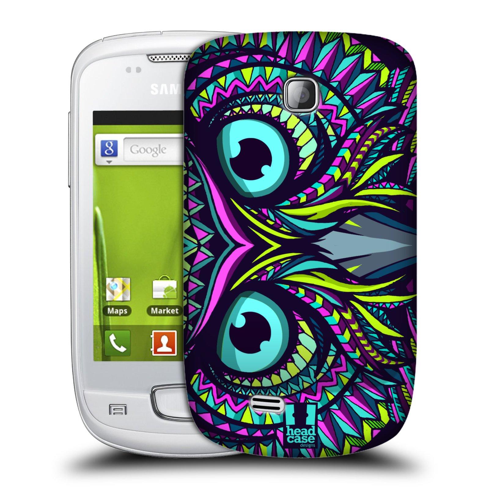 Plastové pouzdro na mobil Samsung Galaxy Mini HEAD CASE AZTEC SOVA (Kryt či obal na mobilní telefon Samsung Galaxy Mini GT-S5570 / GT-S5570i)