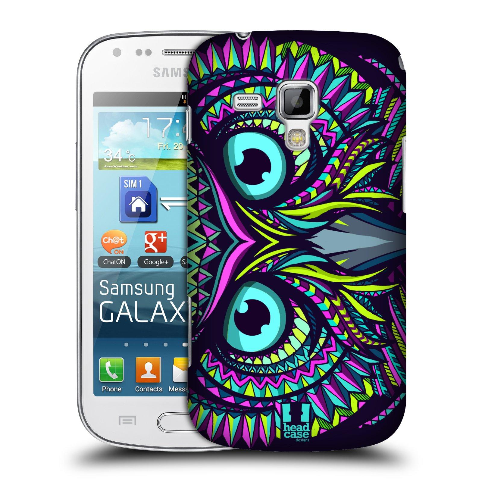 Plastové pouzdro na mobil Samsung Galaxy Trend Plus HEAD CASE AZTEC SOVA