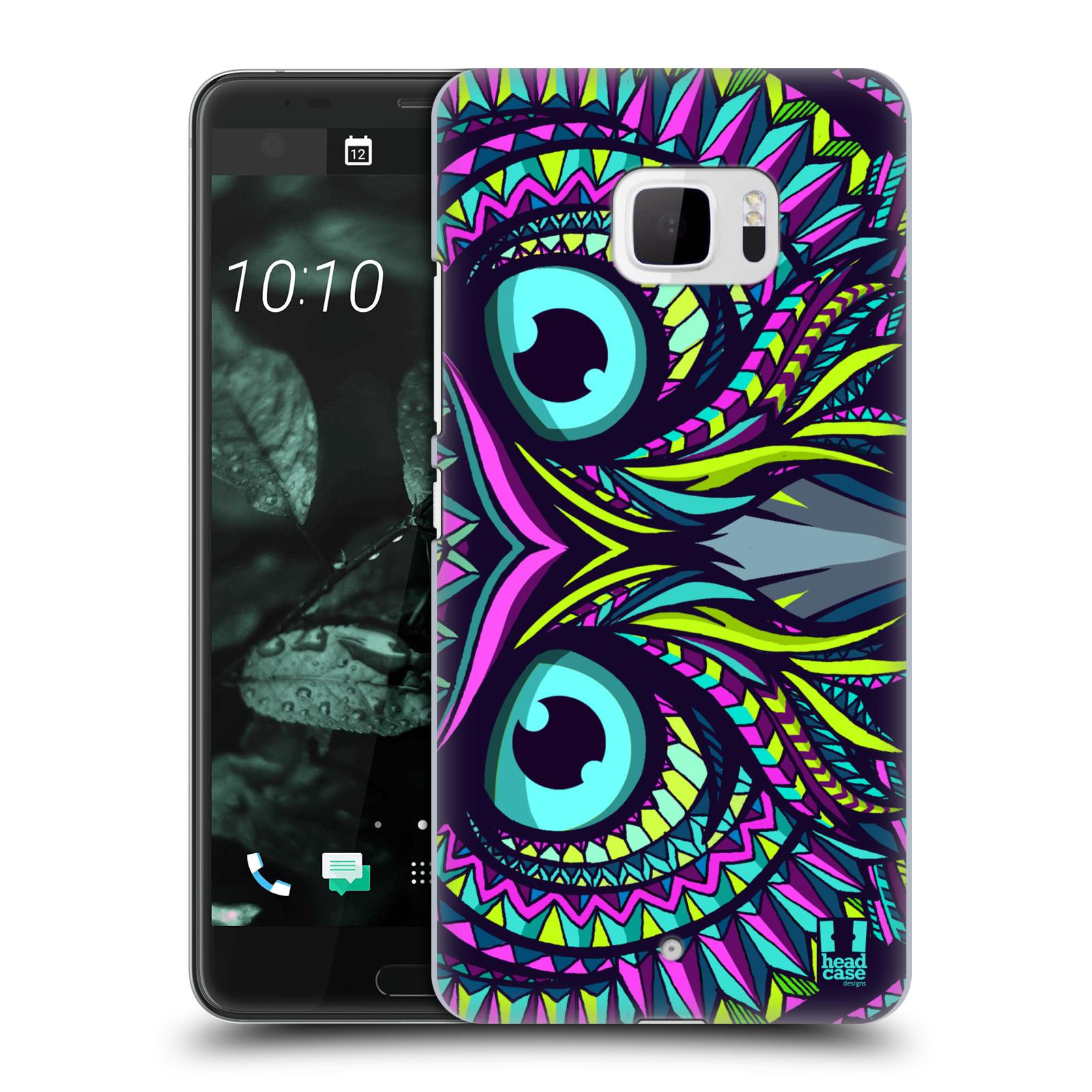 Plastové pouzdro na mobil HTC U Ultra Head Case - AZTEC SOVA