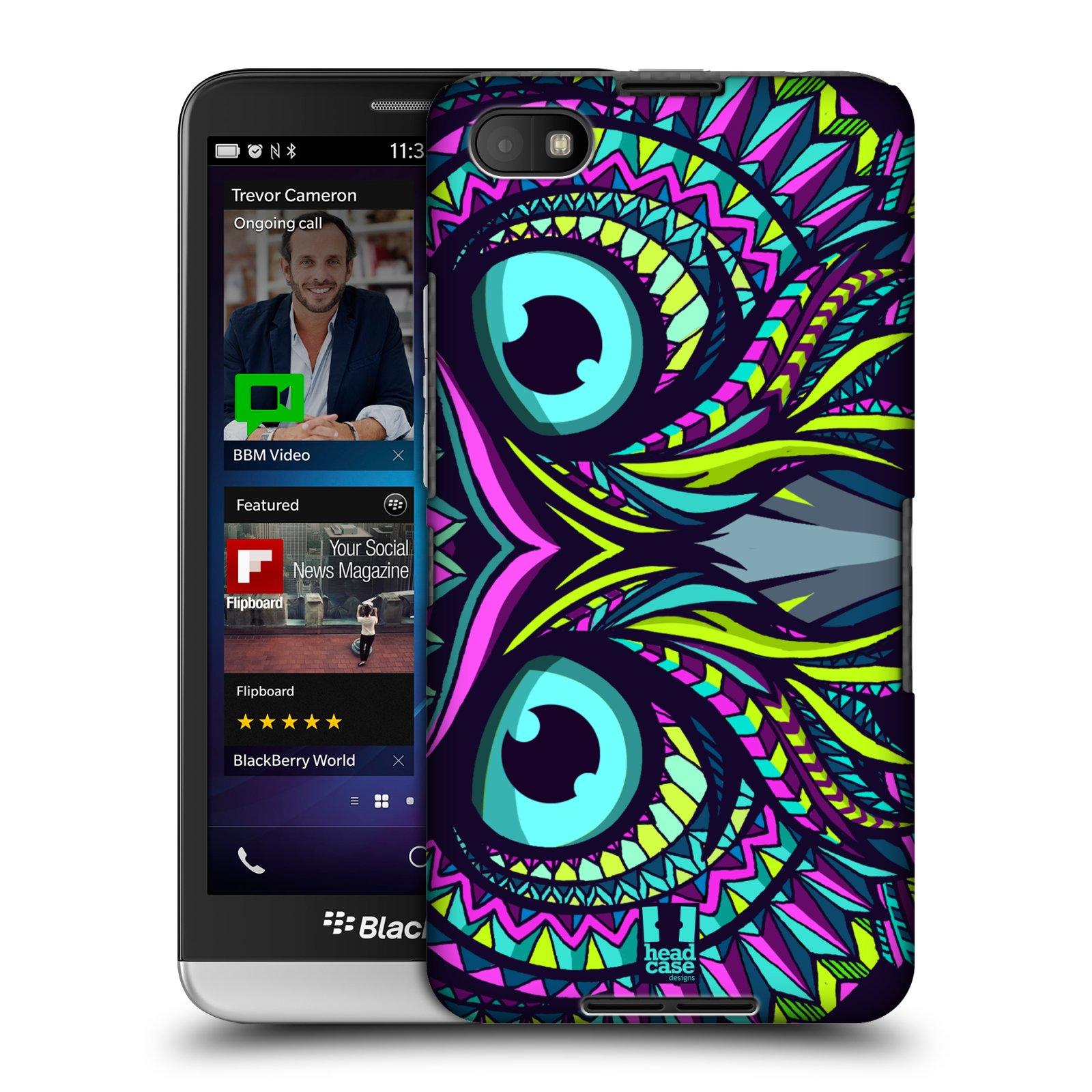 Plastové pouzdro na mobil Blackberry Z30 HEAD CASE AZTEC SOVA (Kryt či obal na mobilní telefon Blackberry Z30)