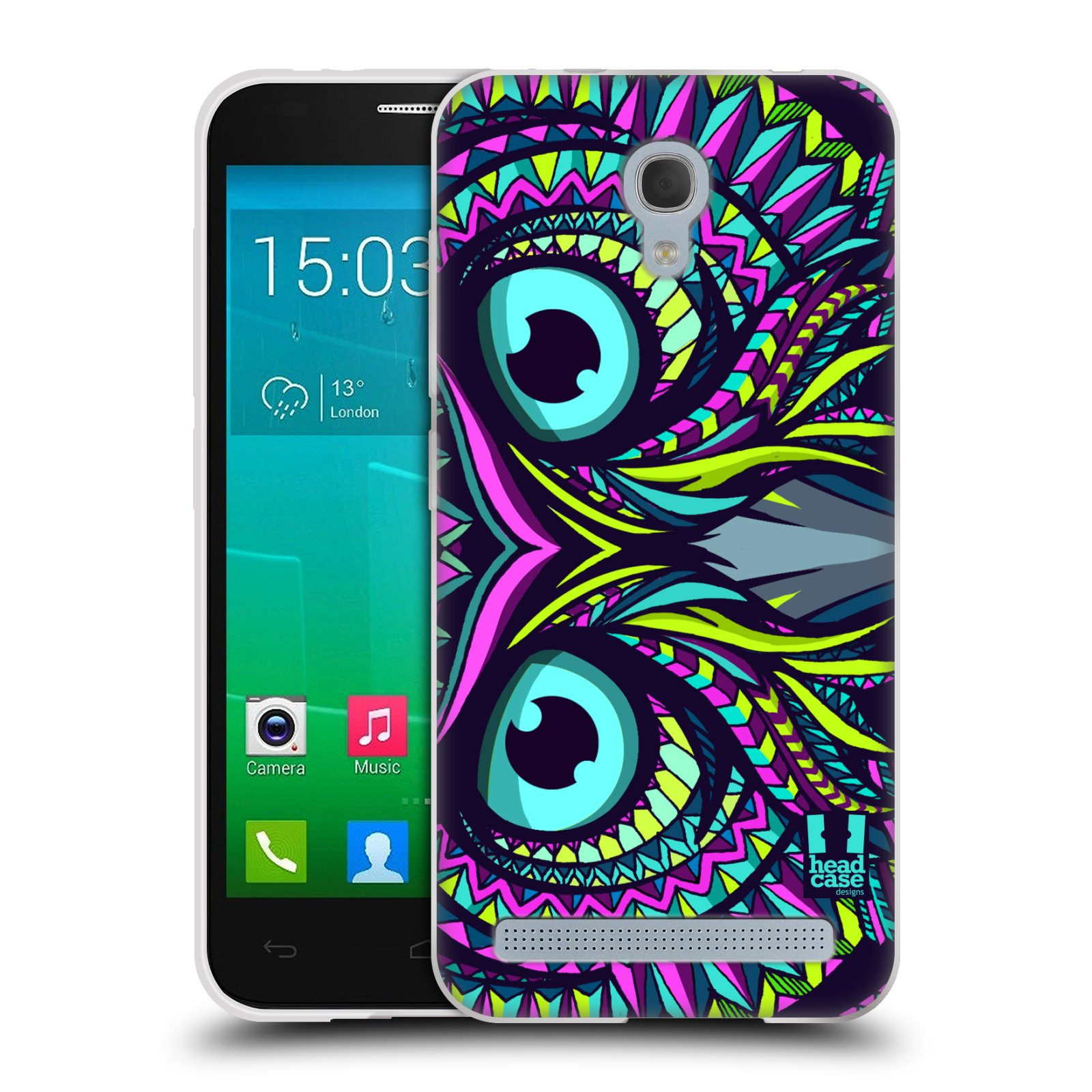 Silikonové pouzdro na mobil Alcatel One Touch Idol 2 Mini S 6036Y HEAD CASE AZTEC SOVA