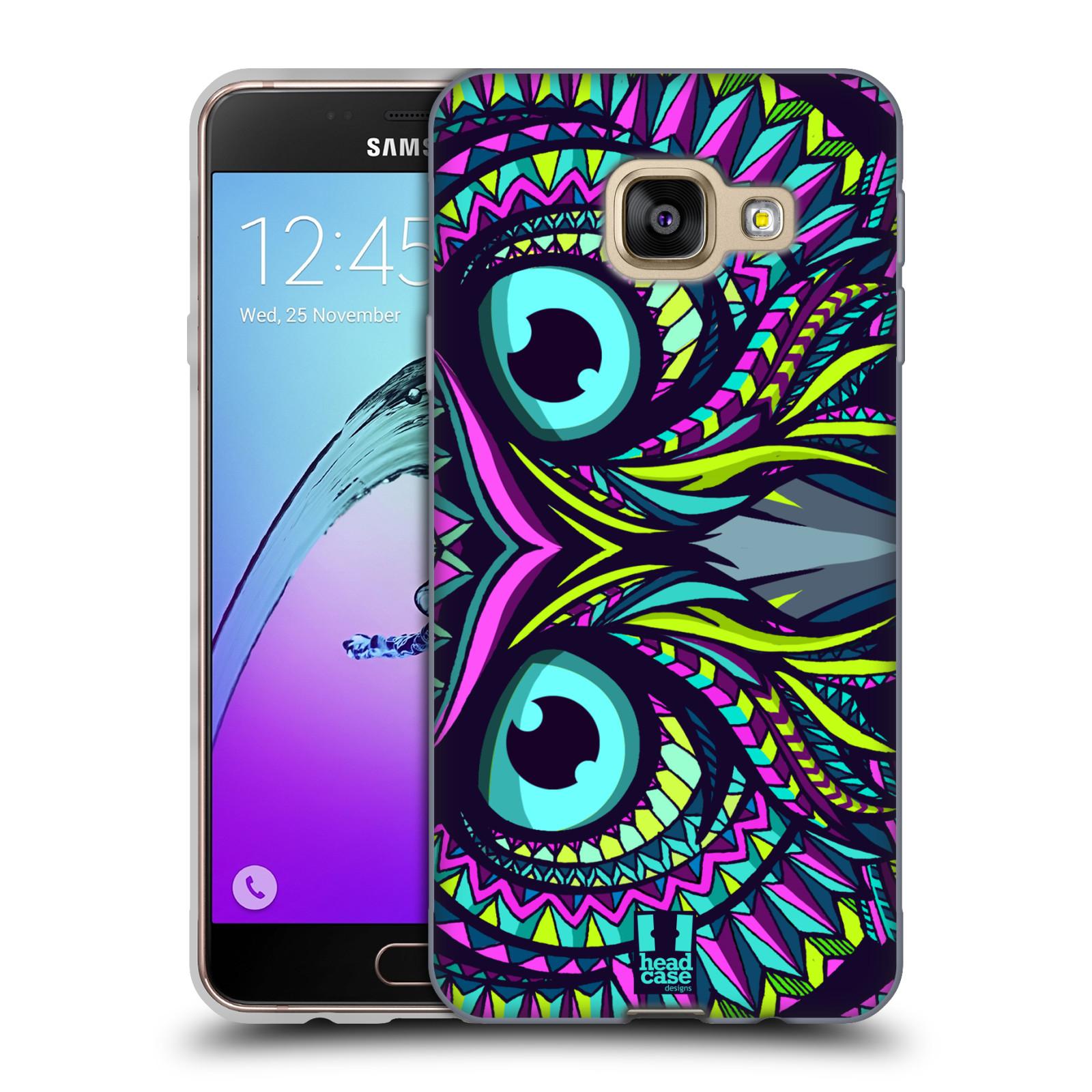 Silikonové pouzdro na mobil Samsung Galaxy A3 (2016) HEAD CASE AZTEC SOVA