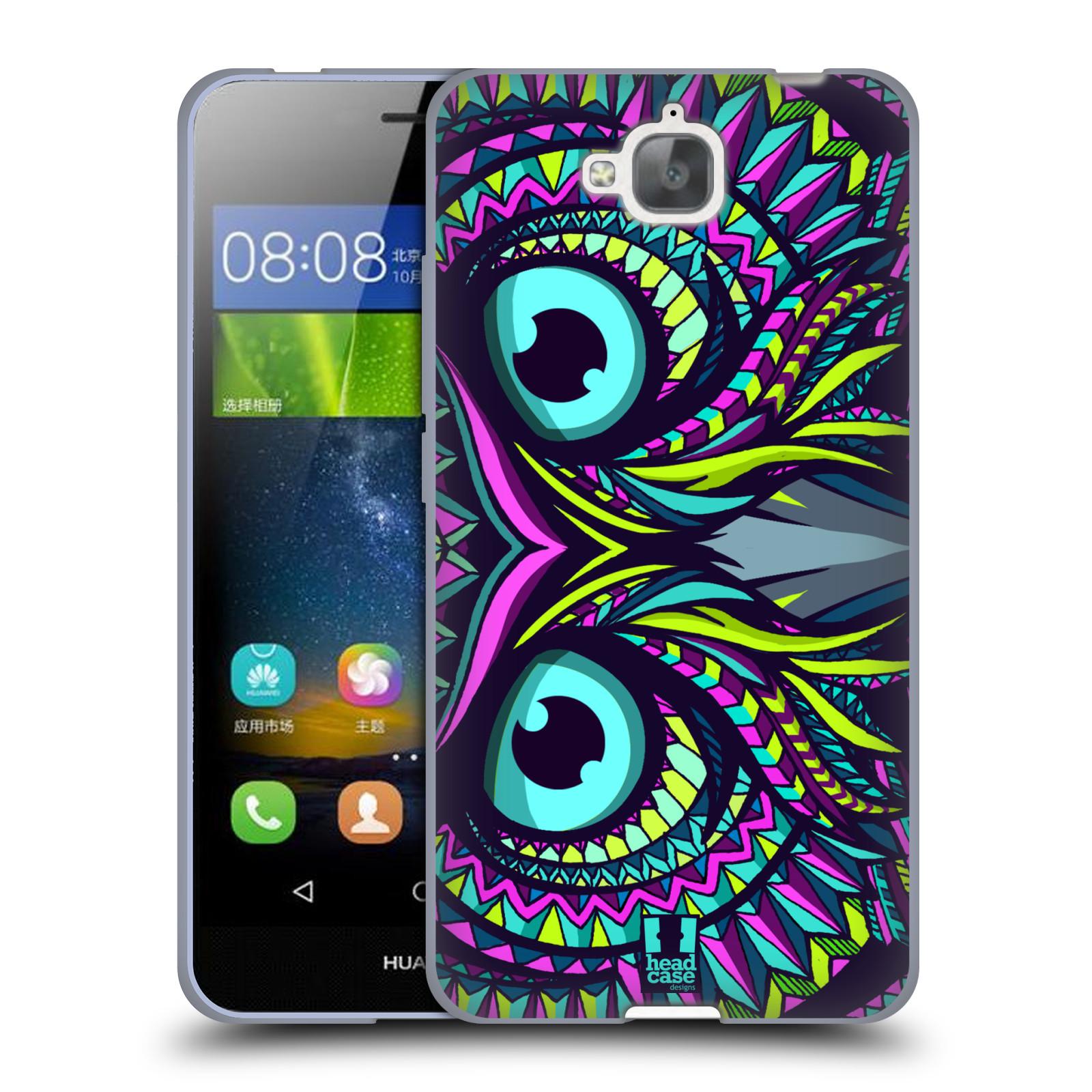 Silikonové pouzdro na mobil Huawei Y6 Pro Dual Sim HEAD CASE AZTEC SOVA