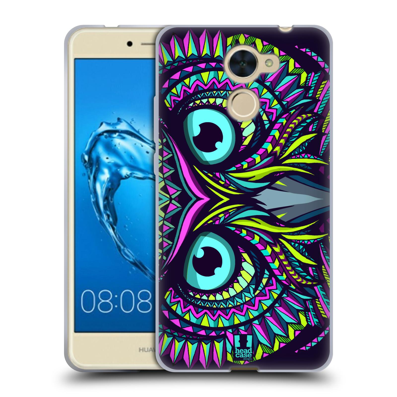 Silikonové pouzdro na mobil Huawei Y7 - Head Case - AZTEC SOVA