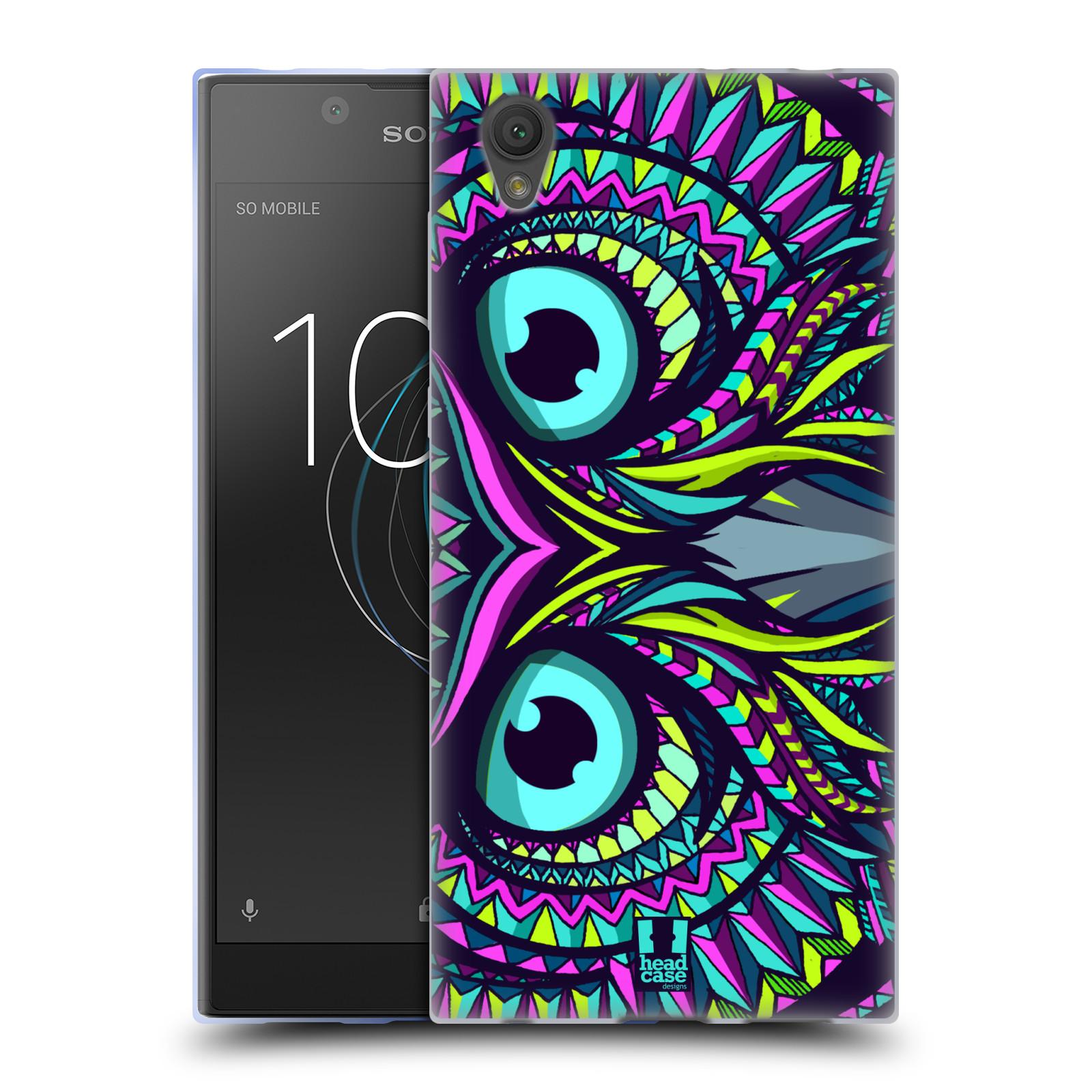 Silikonové pouzdro na mobil Sony Xperia L1 - Head Case - AZTEC SOVA
