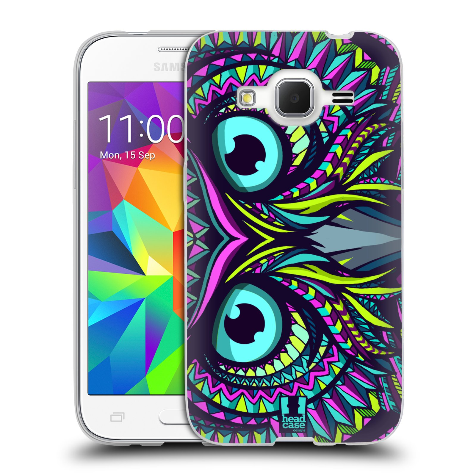 Silikonové pouzdro na mobil Samsung Galaxy Core Prime LTE HEAD CASE AZTEC SOVA