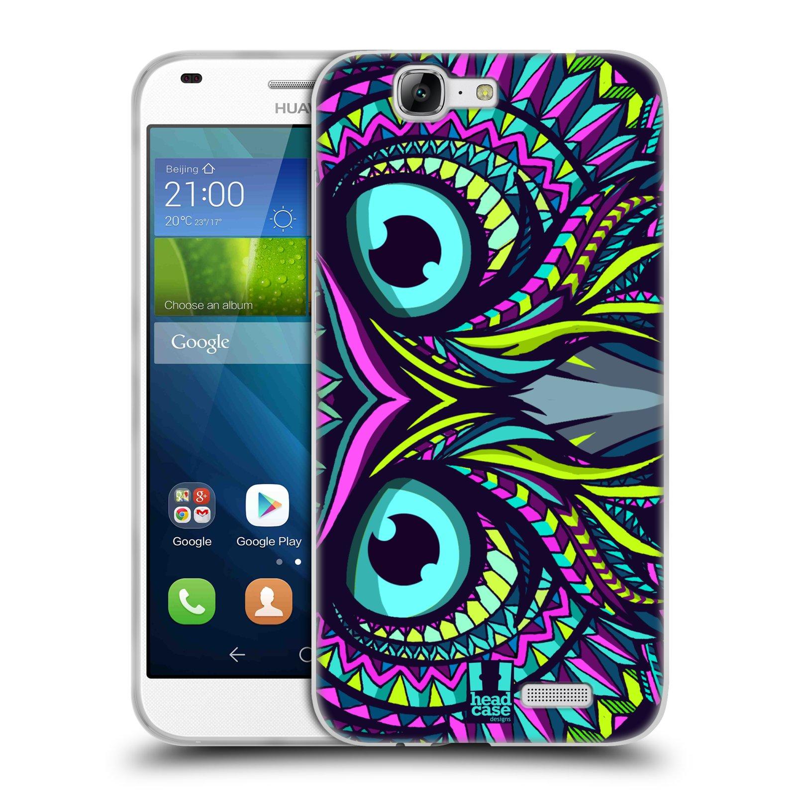 Silikonové pouzdro na mobil Huawei Ascend G7 HEAD CASE AZTEC SOVA