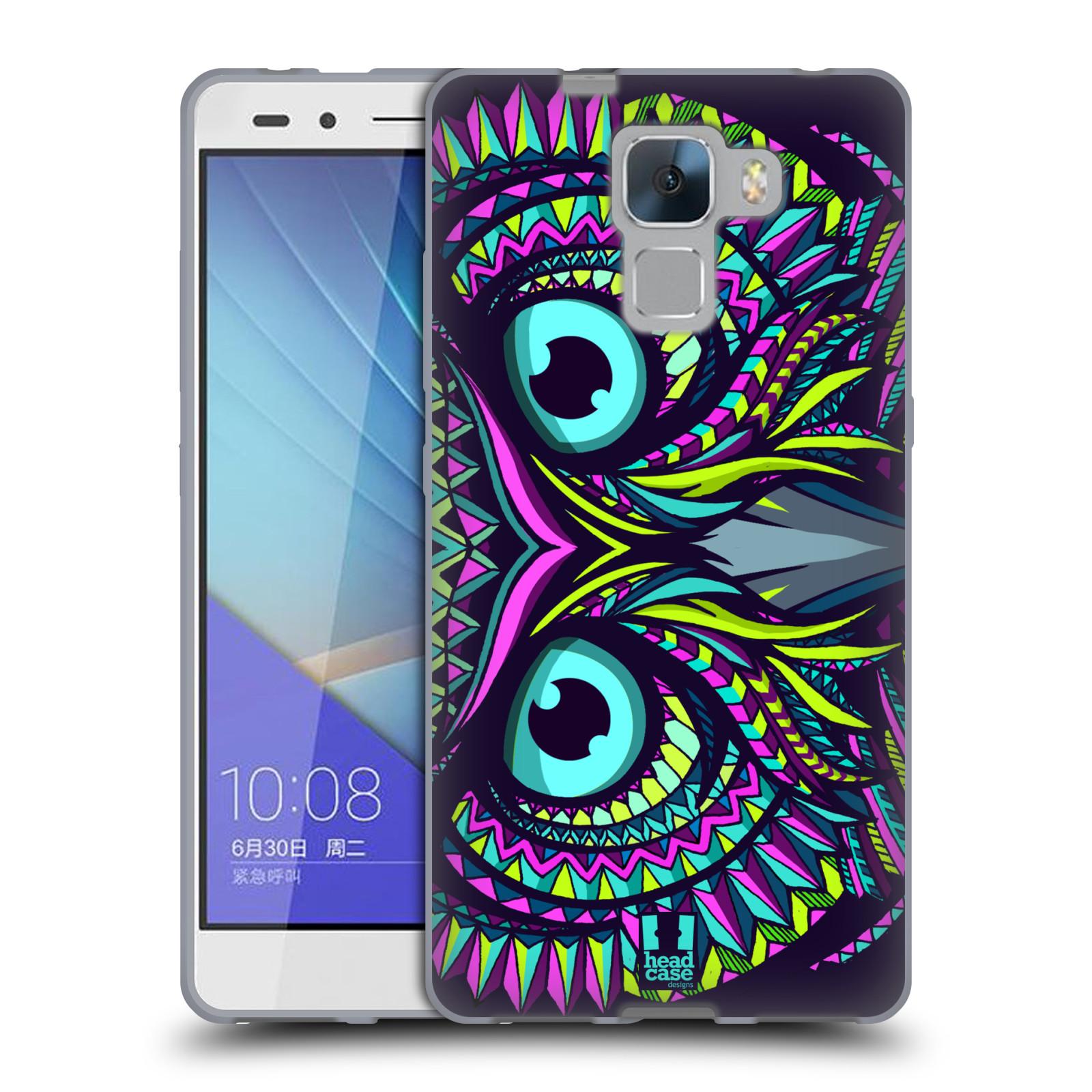 Silikonové pouzdro na mobil Honor 7 HEAD CASE AZTEC SOVA