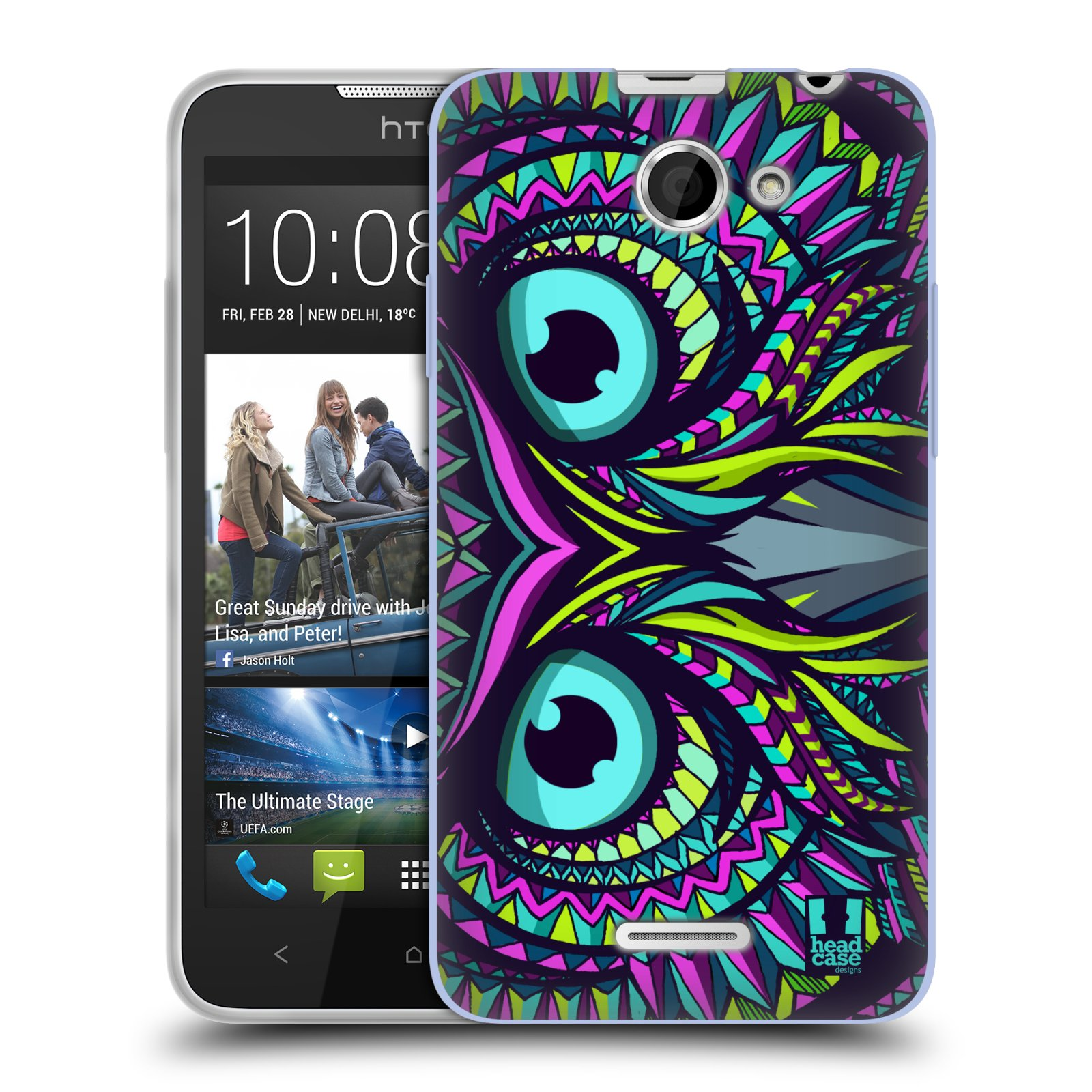 Silikonové pouzdro na mobil HTC Desire 516 HEAD CASE AZTEC SOVA (Silikonový kryt či obal na mobilní telefon HTC Desire 516 Dual SIM)