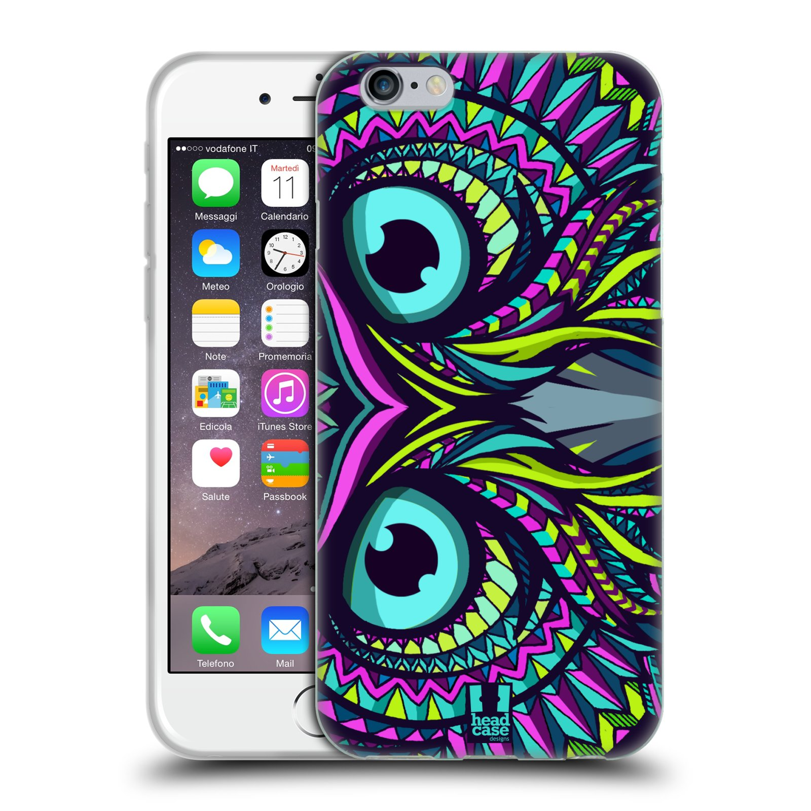 Silikonové pouzdro na mobil Apple iPhone 6 a 6S HEAD CASE AZTEC SOVA