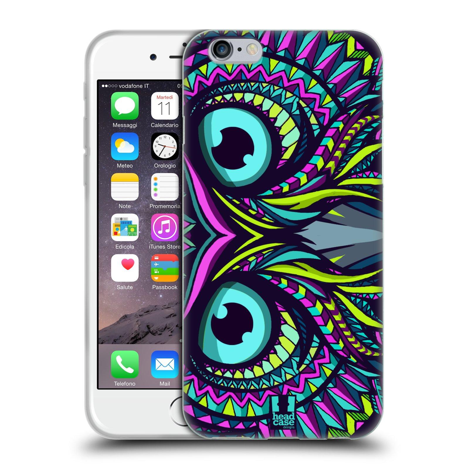 Silikonové pouzdro na mobil Apple iPhone 6 a 6S HEAD CASE AZTEC SOVA