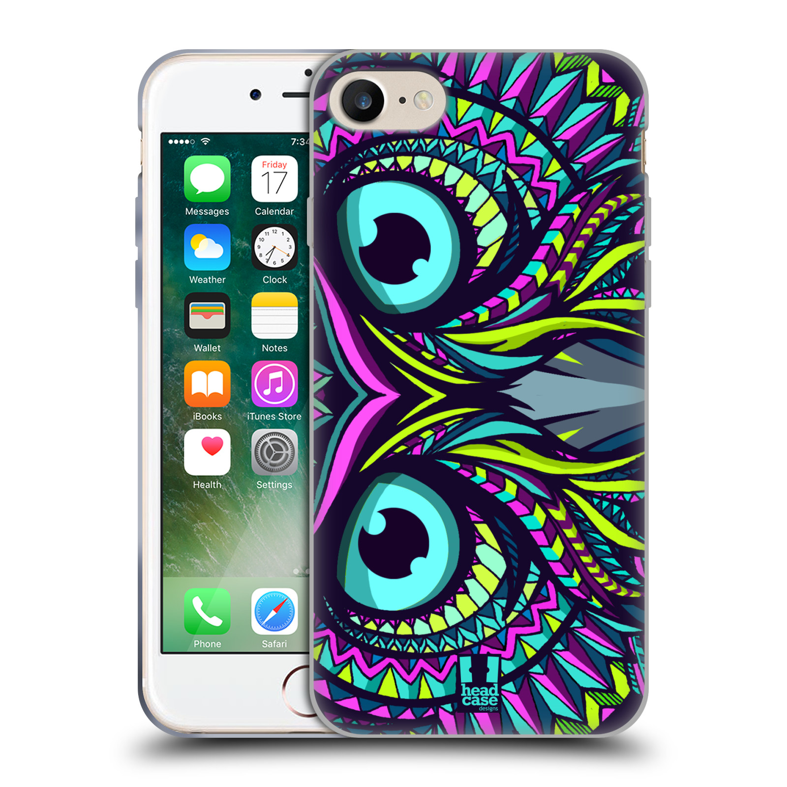 Silikonové pouzdro na mobil Apple iPhone 8 - Head Case - AZTEC SOVA