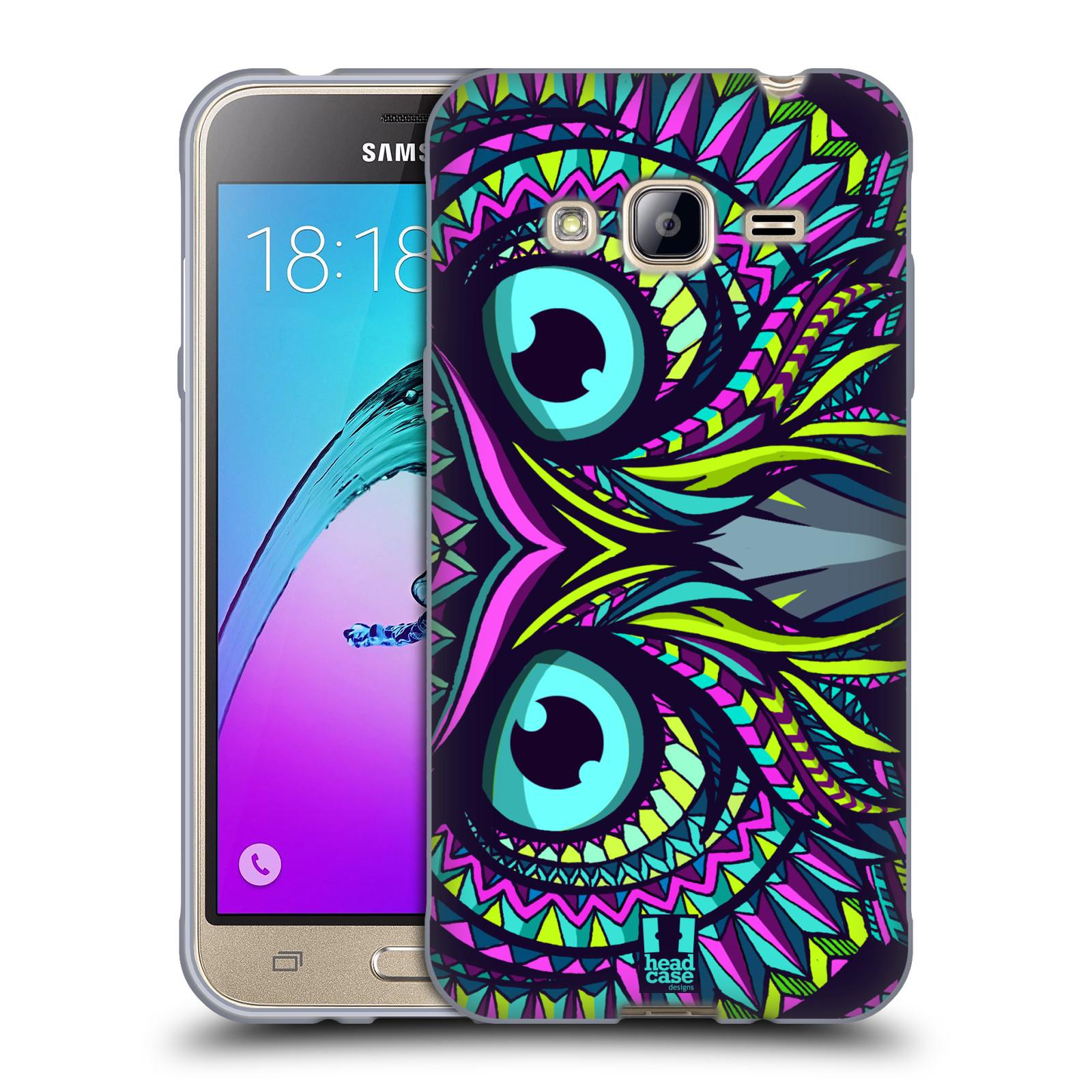 Silikonové pouzdro na mobil Samsung Galaxy J3 (2016) HEAD CASE AZTEC SOVA