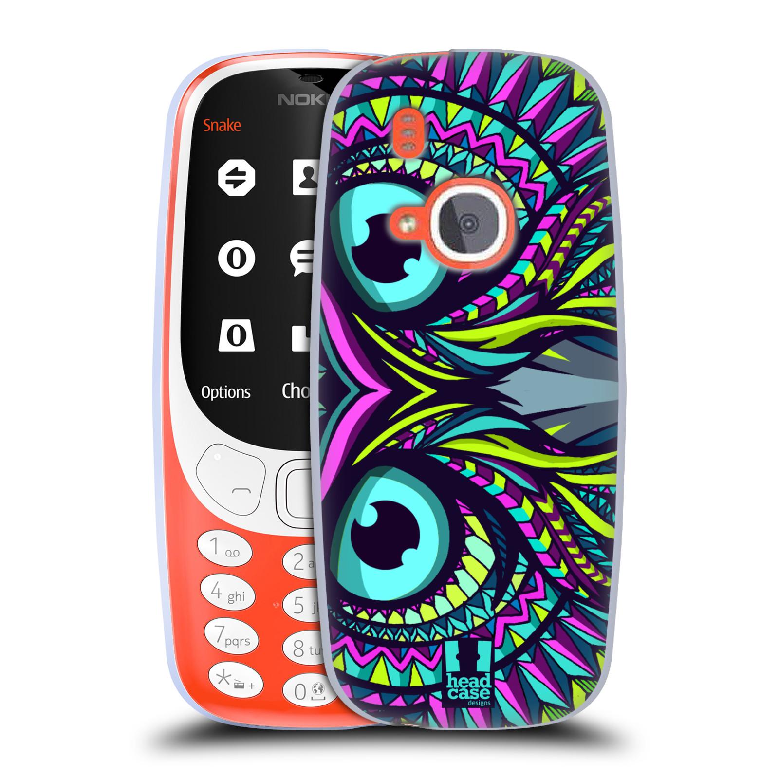Silikonové pouzdro na mobil Nokia 3310 - Head Case - AZTEC SOVA