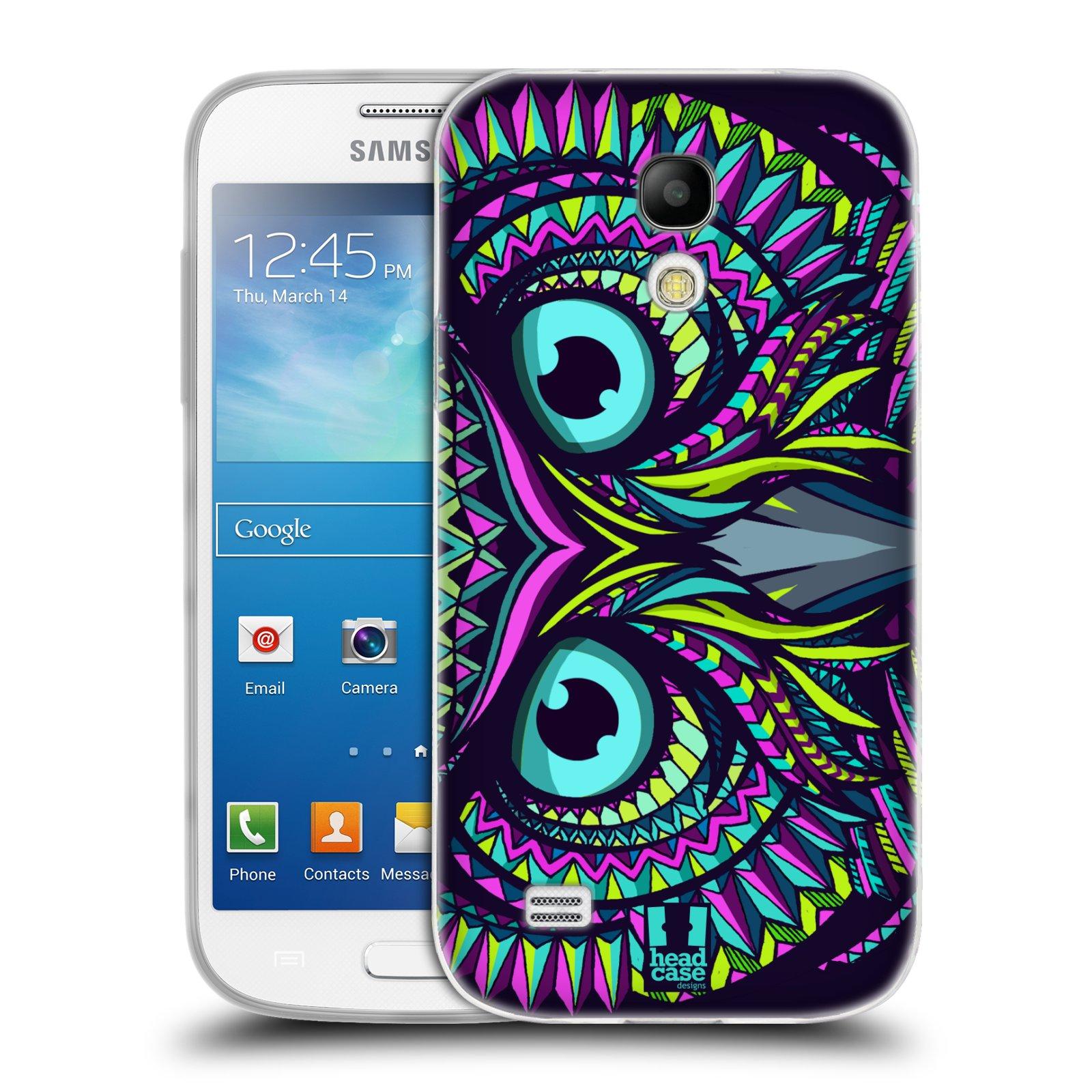 Silikonové pouzdro na mobil Samsung Galaxy S4 Mini HEAD CASE AZTEC SOVA