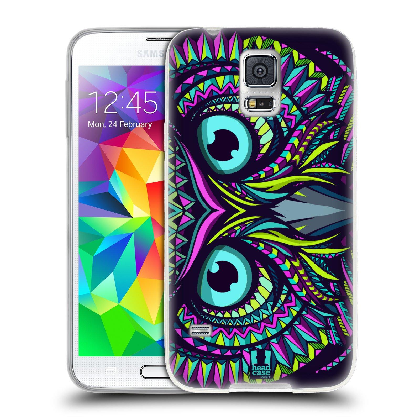 Silikonové pouzdro na mobil Samsung Galaxy S5 HEAD CASE AZTEC SOVA