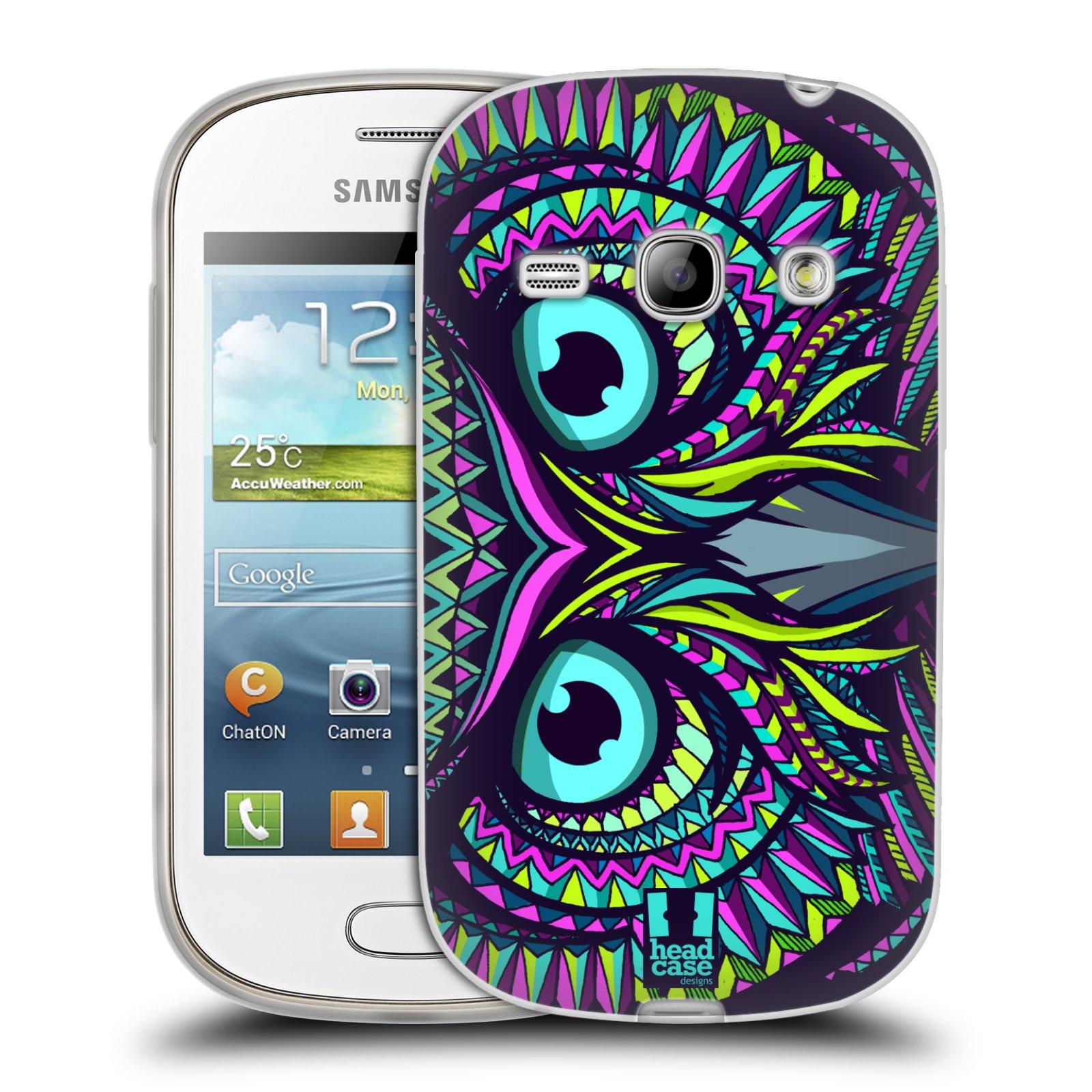 Silikonové pouzdro na mobil Samsung Galaxy Fame HEAD CASE AZTEC SOVA (Silikonový kryt či obal na mobilní telefon Samsung Galaxy Fame GT-S6810)