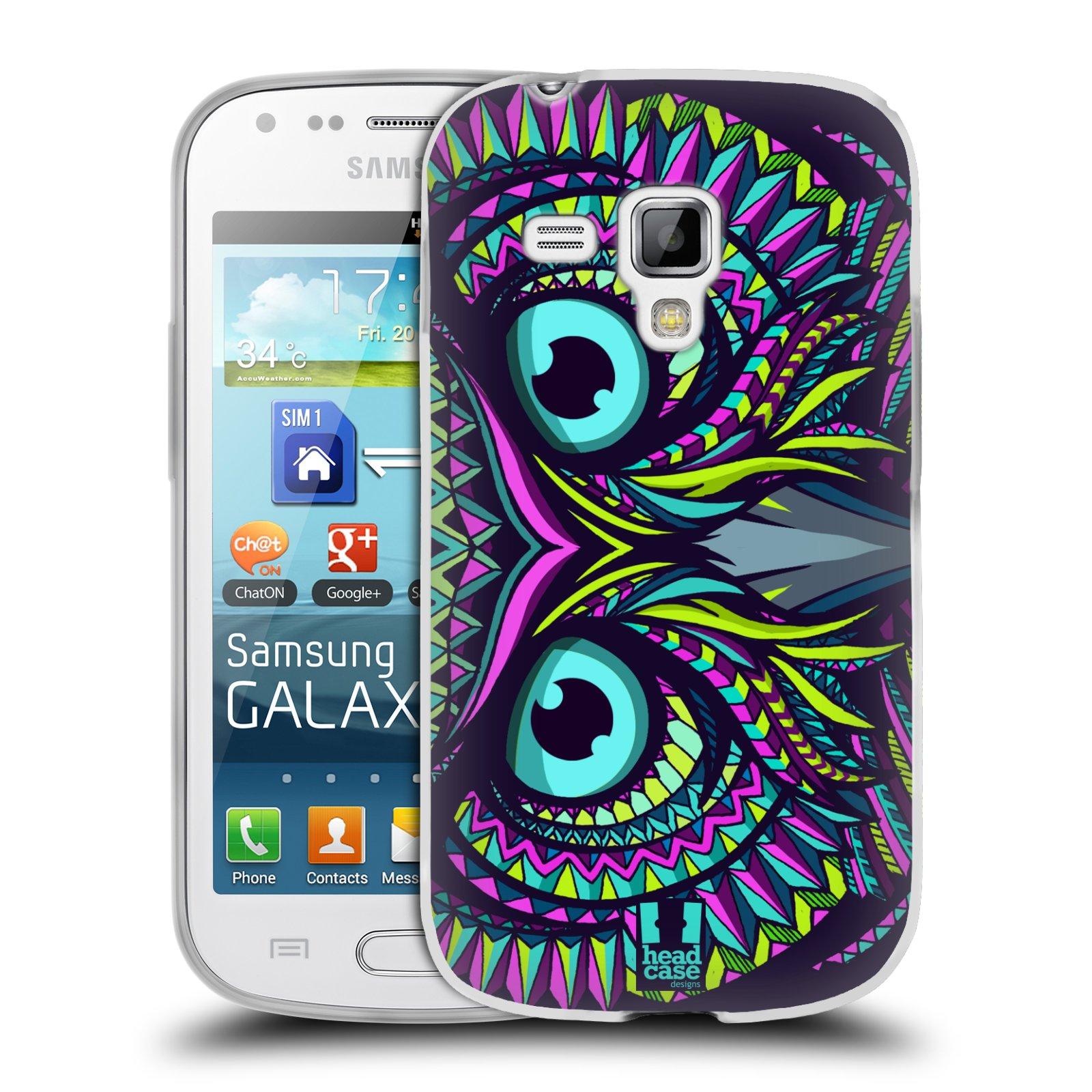 Silikonové pouzdro na mobil Samsung Galaxy S Duos 2 HEAD CASE AZTEC SOVA (Silikonový kryt či obal na mobilní telefon Samsung Galaxy S Duos 2 GT-S7582)
