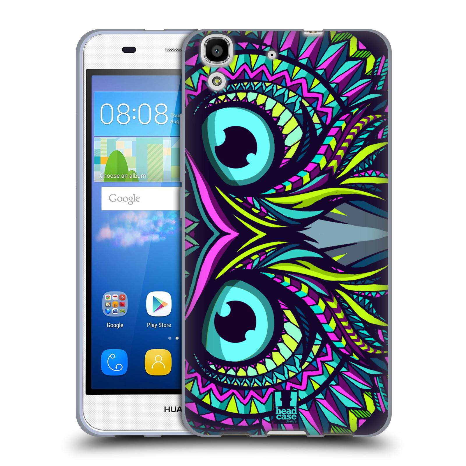 Silikonové pouzdro na mobil Huawei Y6 HEAD CASE AZTEC SOVA