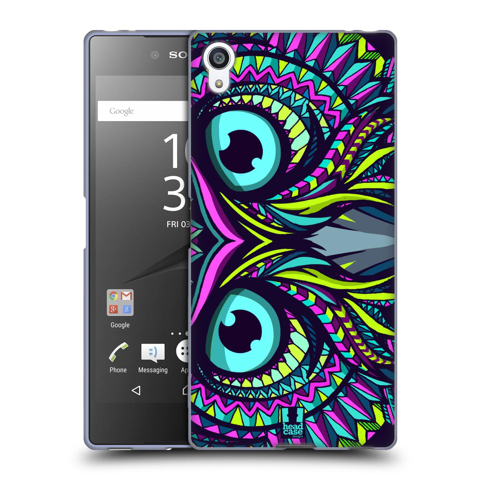 Silikonové pouzdro na mobil Sony Xperia Z5 Premium HEAD CASE AZTEC SOVA