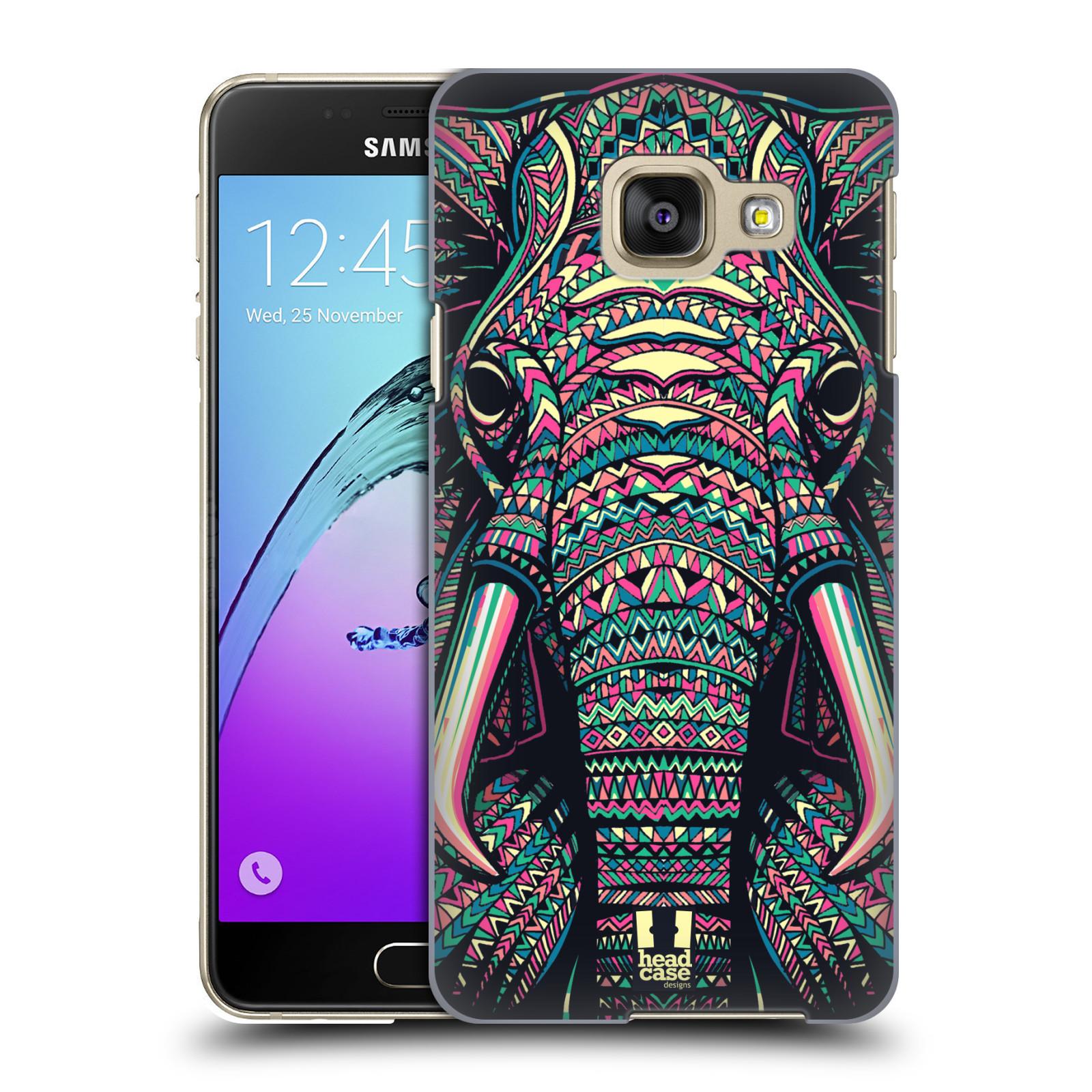Plastové pouzdro na mobil Samsung Galaxy A3 (2016) HEAD CASE AZTEC SLON
