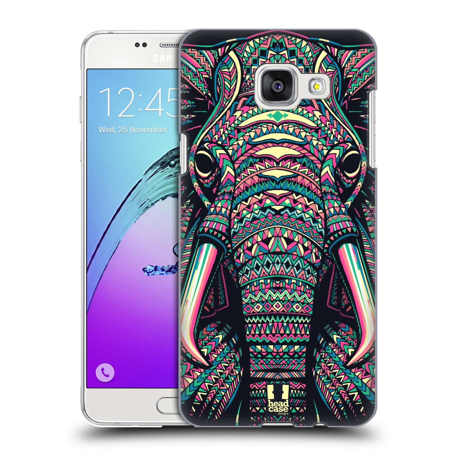 Plastové pouzdro na mobil Samsung Galaxy A5 (2016) HEAD CASE AZTEC SLON