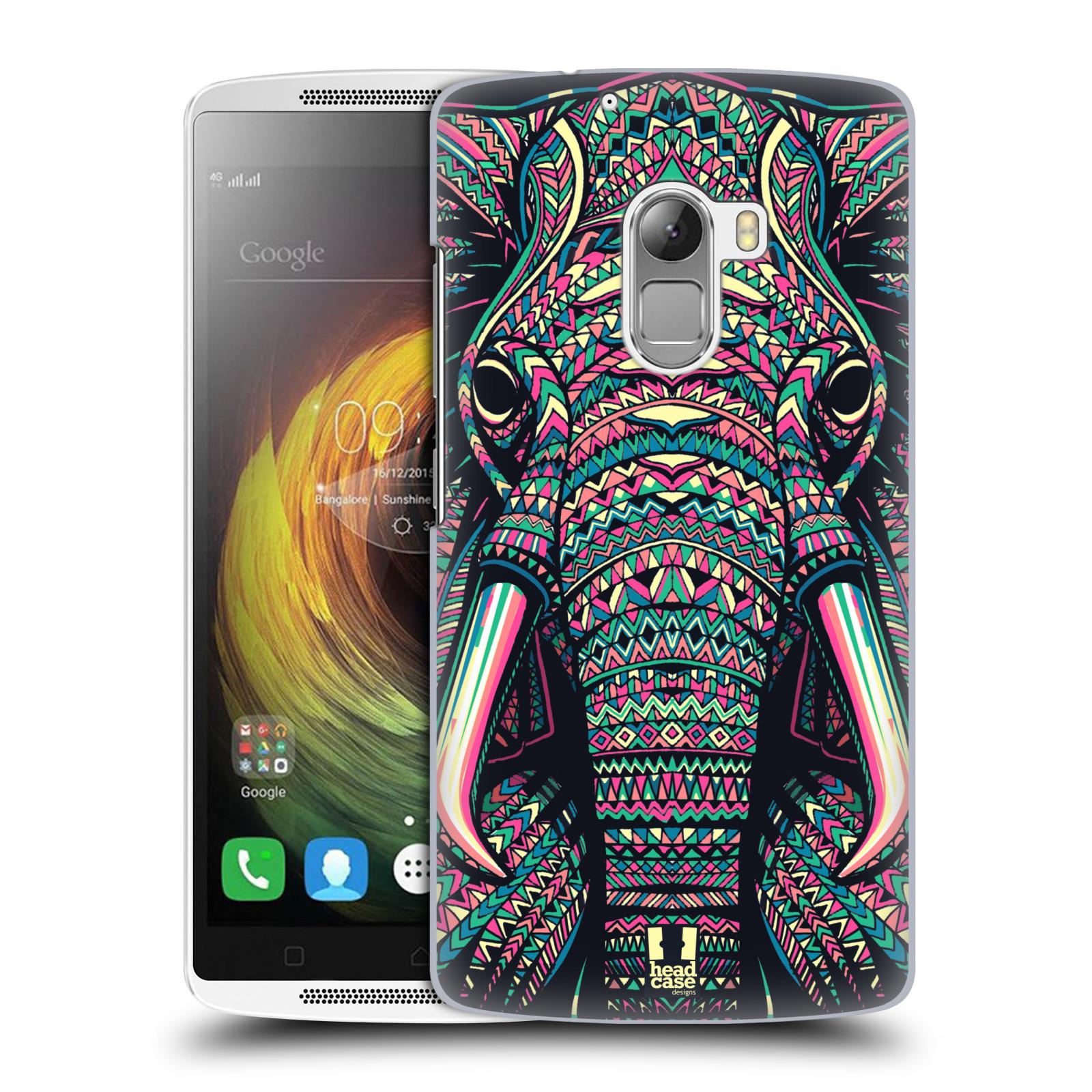Plastové pouzdro na mobil Lenovo A7010 HEAD CASE AZTEC SLON