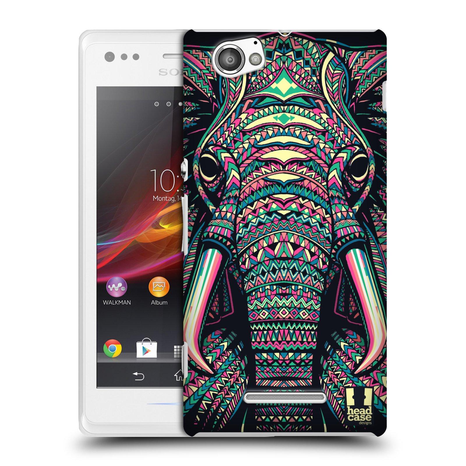 Plastové pouzdro na mobil Sony Xperia M C1905 HEAD CASE AZTEC SLON