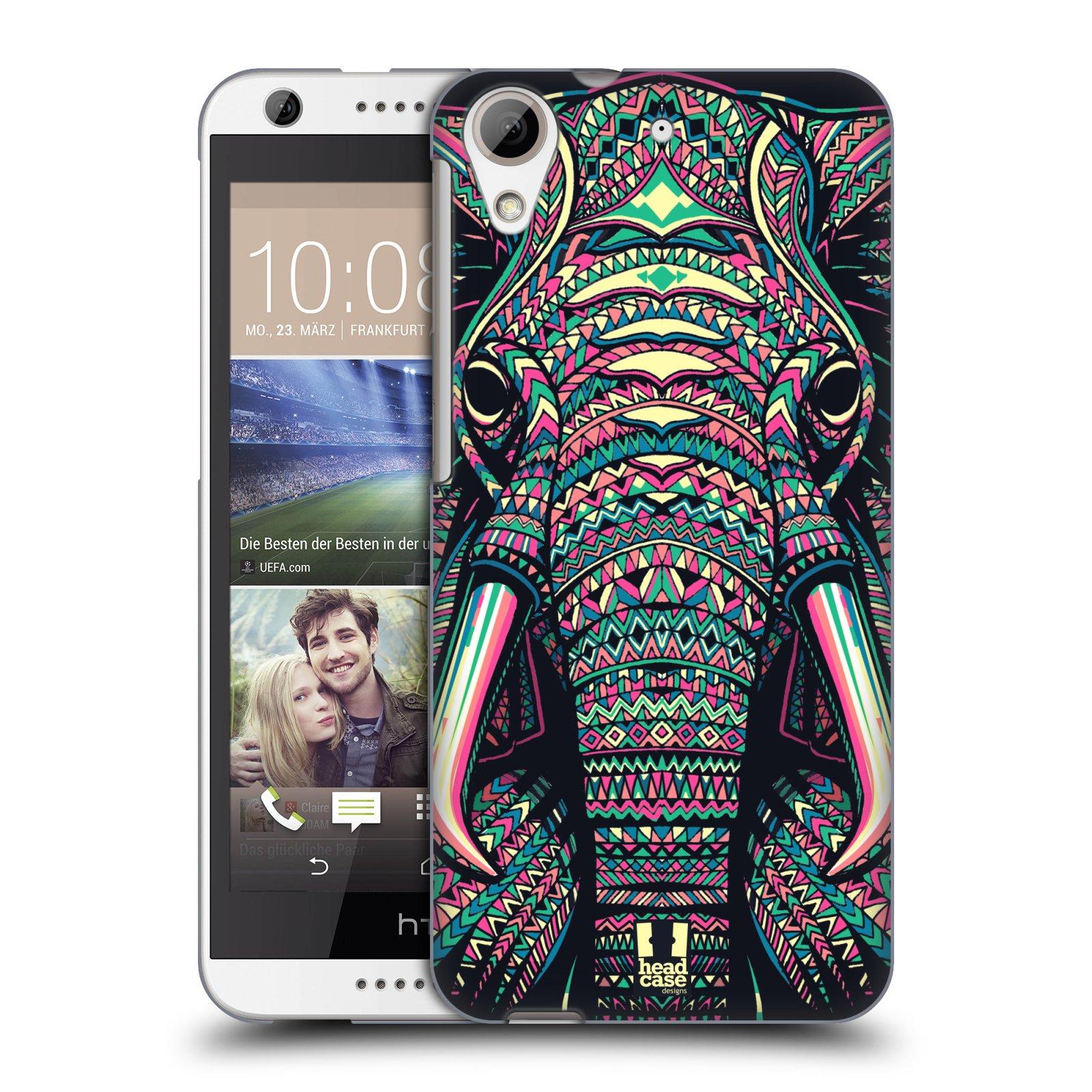 Plastové pouzdro na mobil HTC Desire 626 / 626G HEAD CASE AZTEC SLON (Kryt či obal na mobilní telefon HTC Desire 626G Dual SIM a HTC Desire 626)