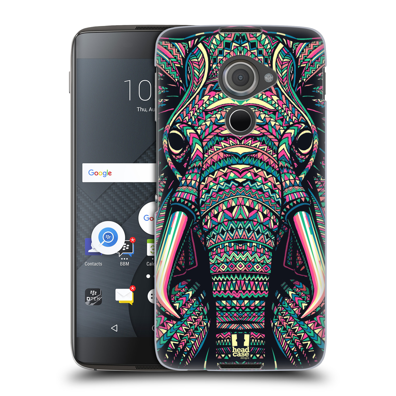 Plastové pouzdro na mobil Blackberry DTEK60 (Argon) - Head Case AZTEC SLON
