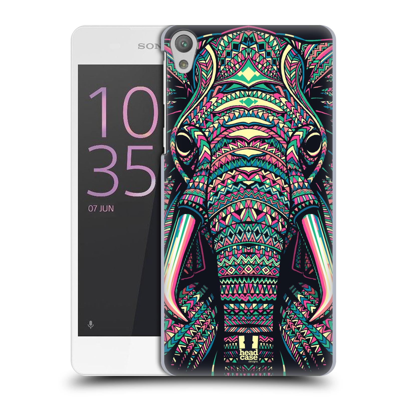 Plastové pouzdro na mobil Sony Xperia E5 HEAD CASE AZTEC SLON