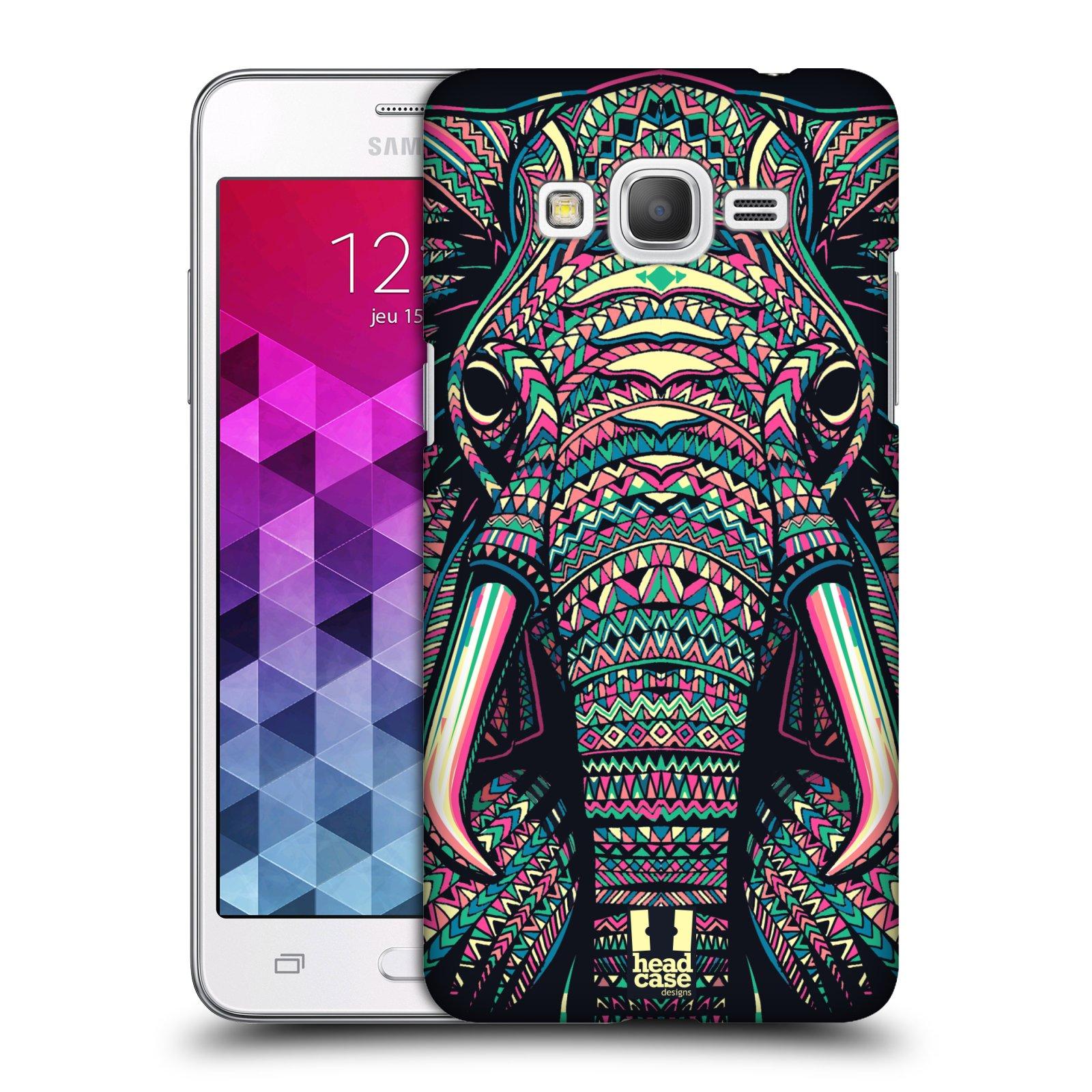 Plastové pouzdro na mobil Samsung Galaxy Grand Prime VE HEAD CASE AZTEC SLON