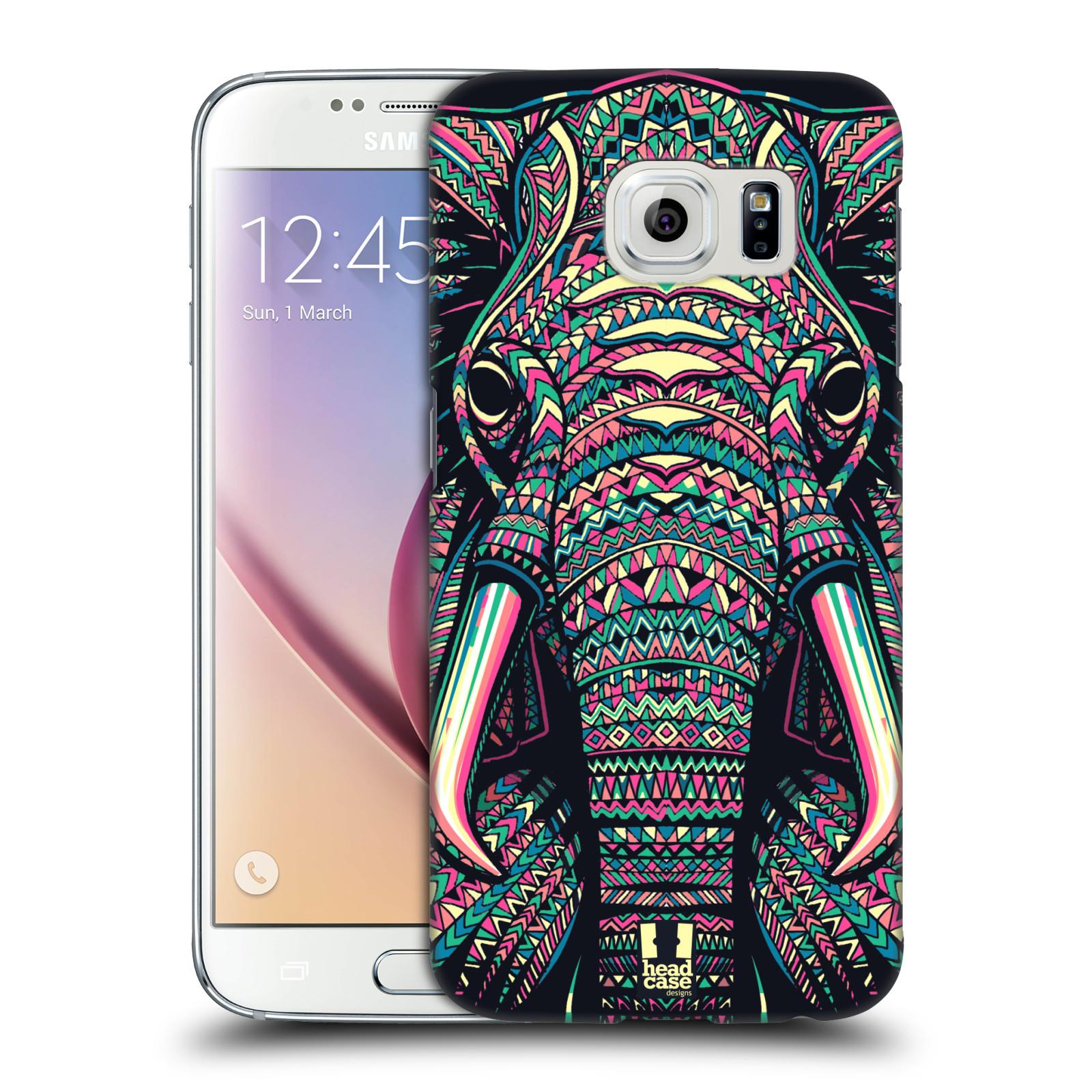 Plastové pouzdro na mobil Samsung Galaxy S6 HEAD CASE AZTEC SLON