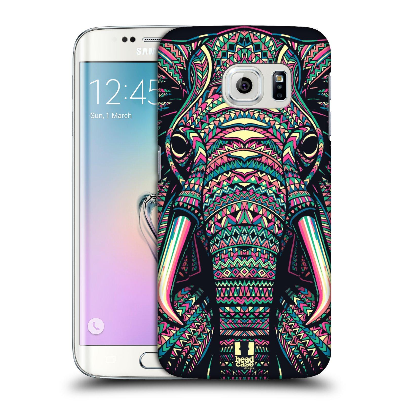 Plastové pouzdro na mobil Samsung Galaxy S6 Edge HEAD CASE AZTEC SLON (Kryt či obal na mobilní telefon Samsung Galaxy S6 Edge SM-G925F)
