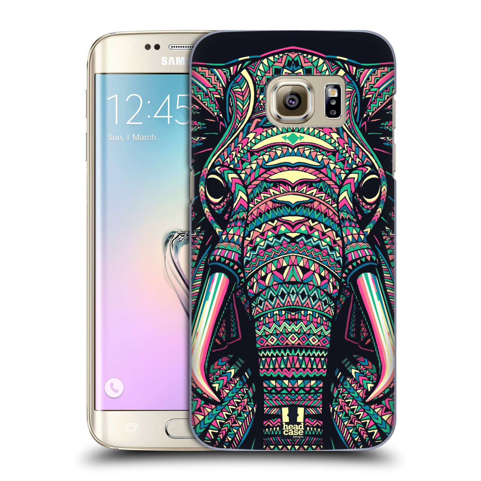 Plastové pouzdro na mobil Samsung Galaxy S7 Edge HEAD CASE AZTEC SLON