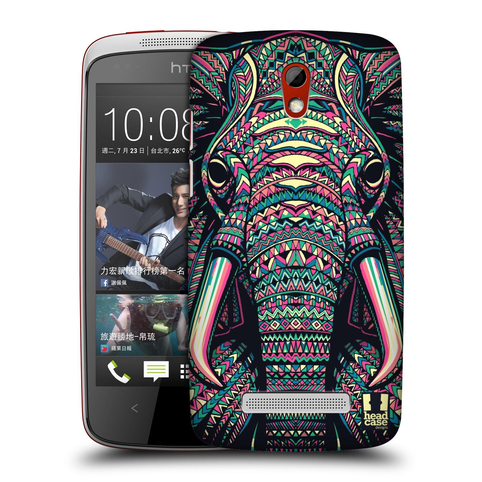 Plastové pouzdro na mobil HTC Desire 500 HEAD CASE AZTEC SLON (Kryt či obal na mobilní telefon HTC Desire 500)
