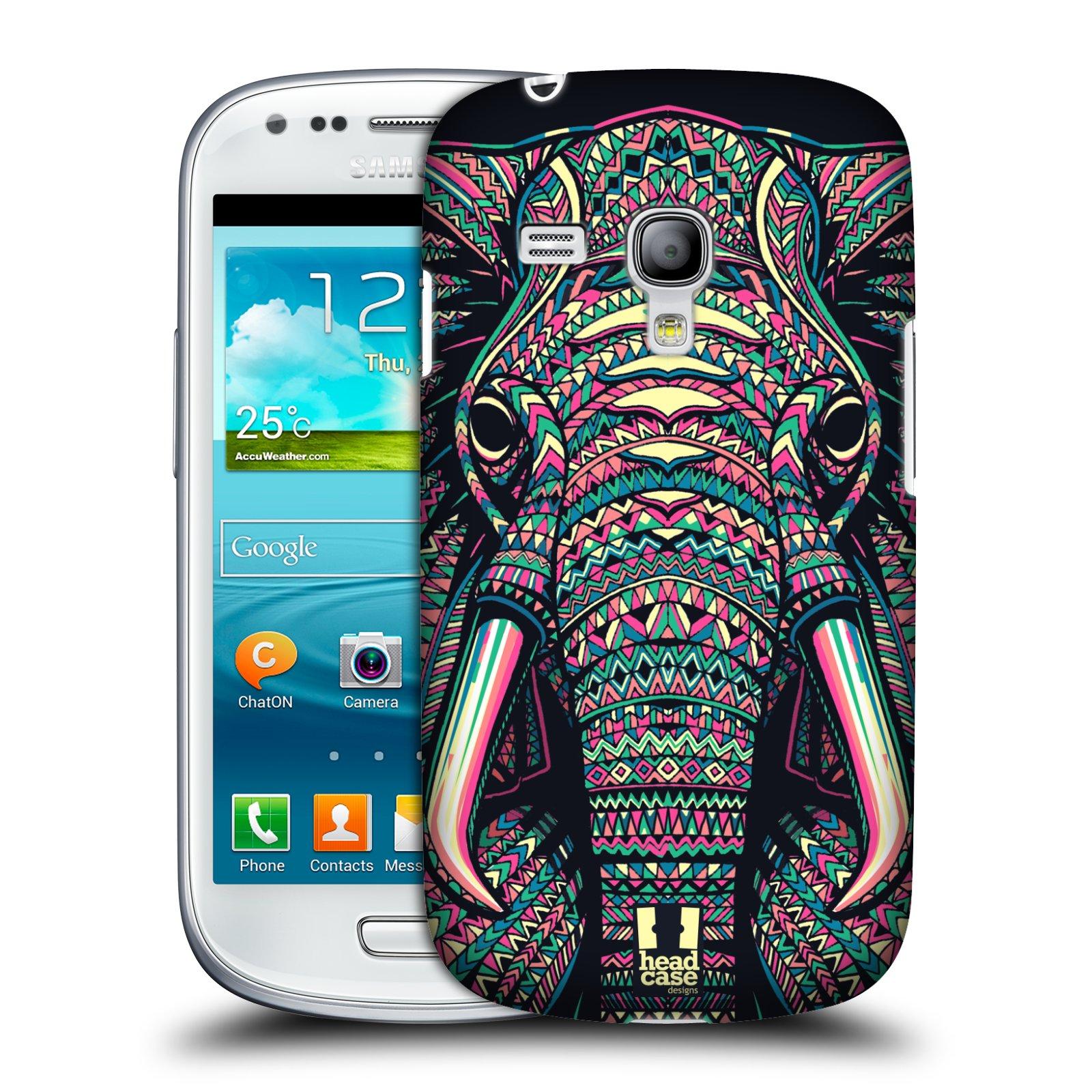 Plastové pouzdro na mobil Samsung Galaxy S III Mini HEAD CASE AZTEC SLON (Kryt či obal na mobilní telefon Samsung Galaxy S III Mini GT-i8190)